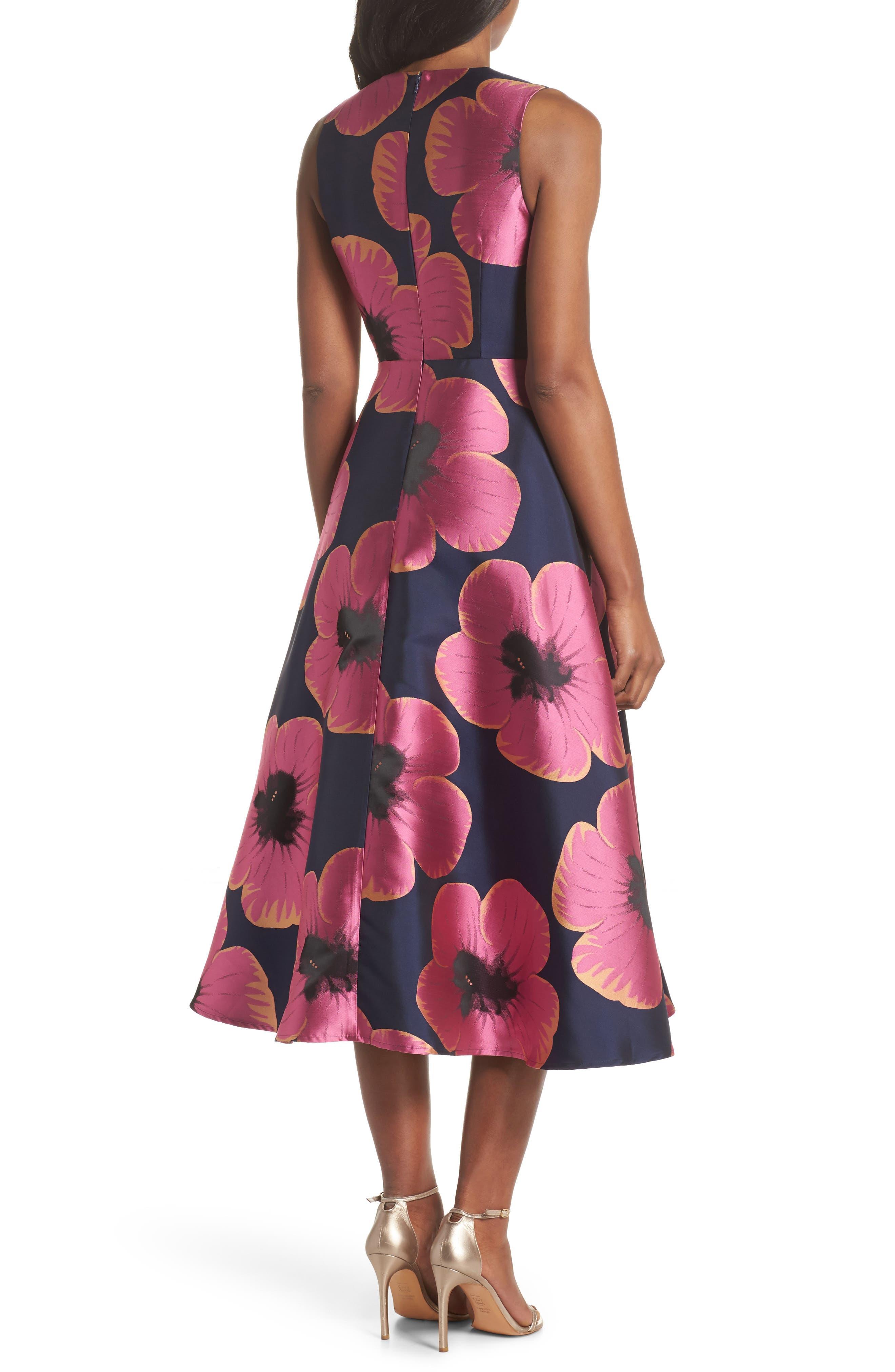 Serena Jacquard Midi Dress,                             Alternate thumbnail 2, color,                             464