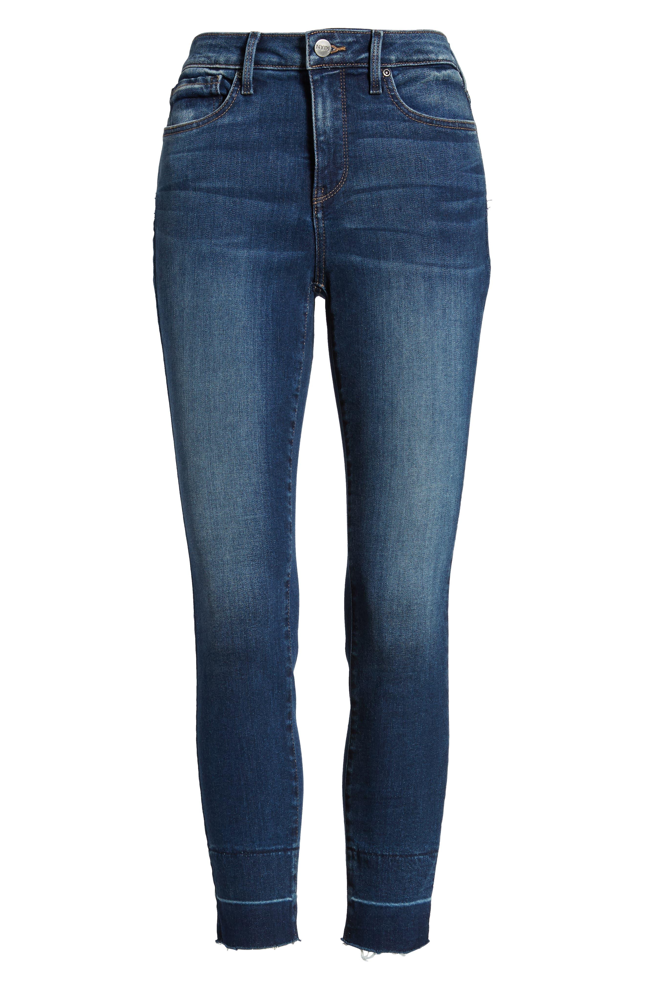 NYDJ,                             Ami Wide Release Hem Super Skinny Jeans,                             Alternate thumbnail 7, color,                             403