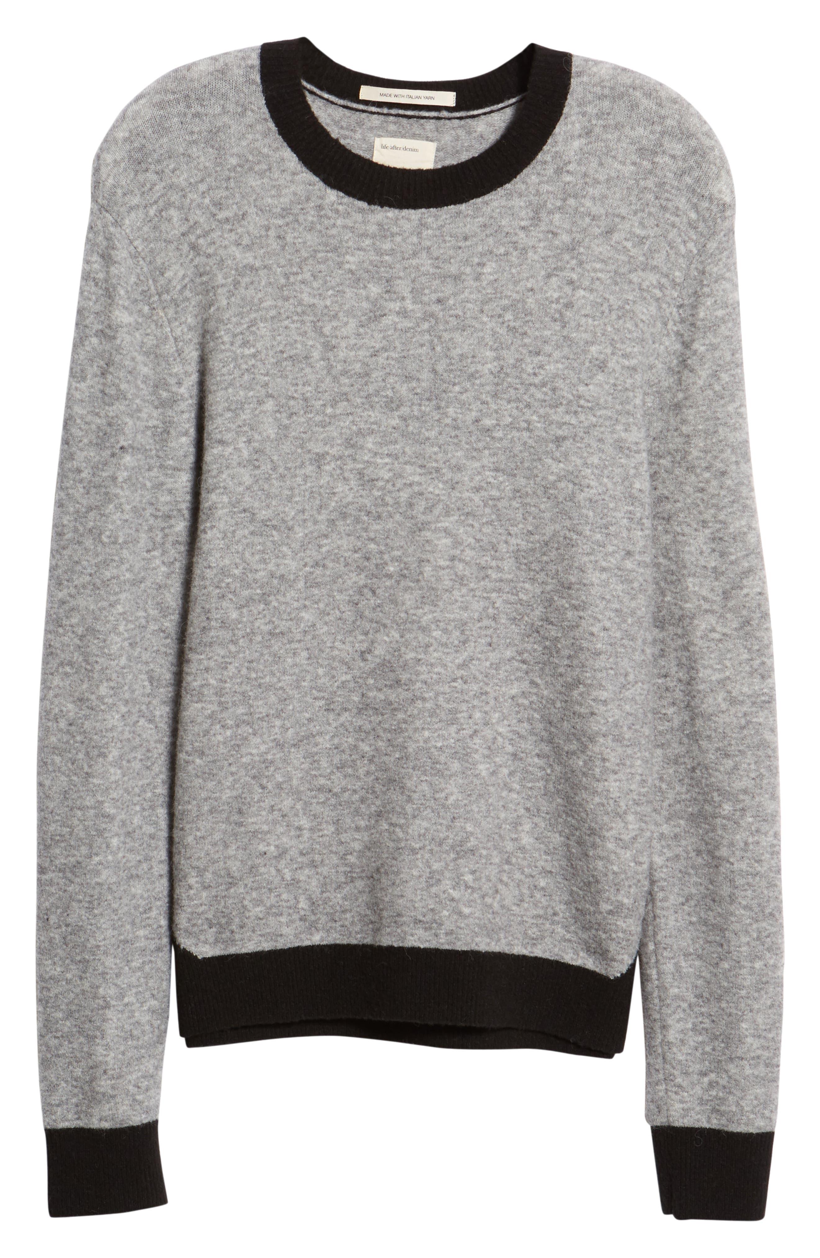 Clermont Slim Fit Crewneck Sweater,                             Alternate thumbnail 6, color,                             LIGHT HEATHER GREY