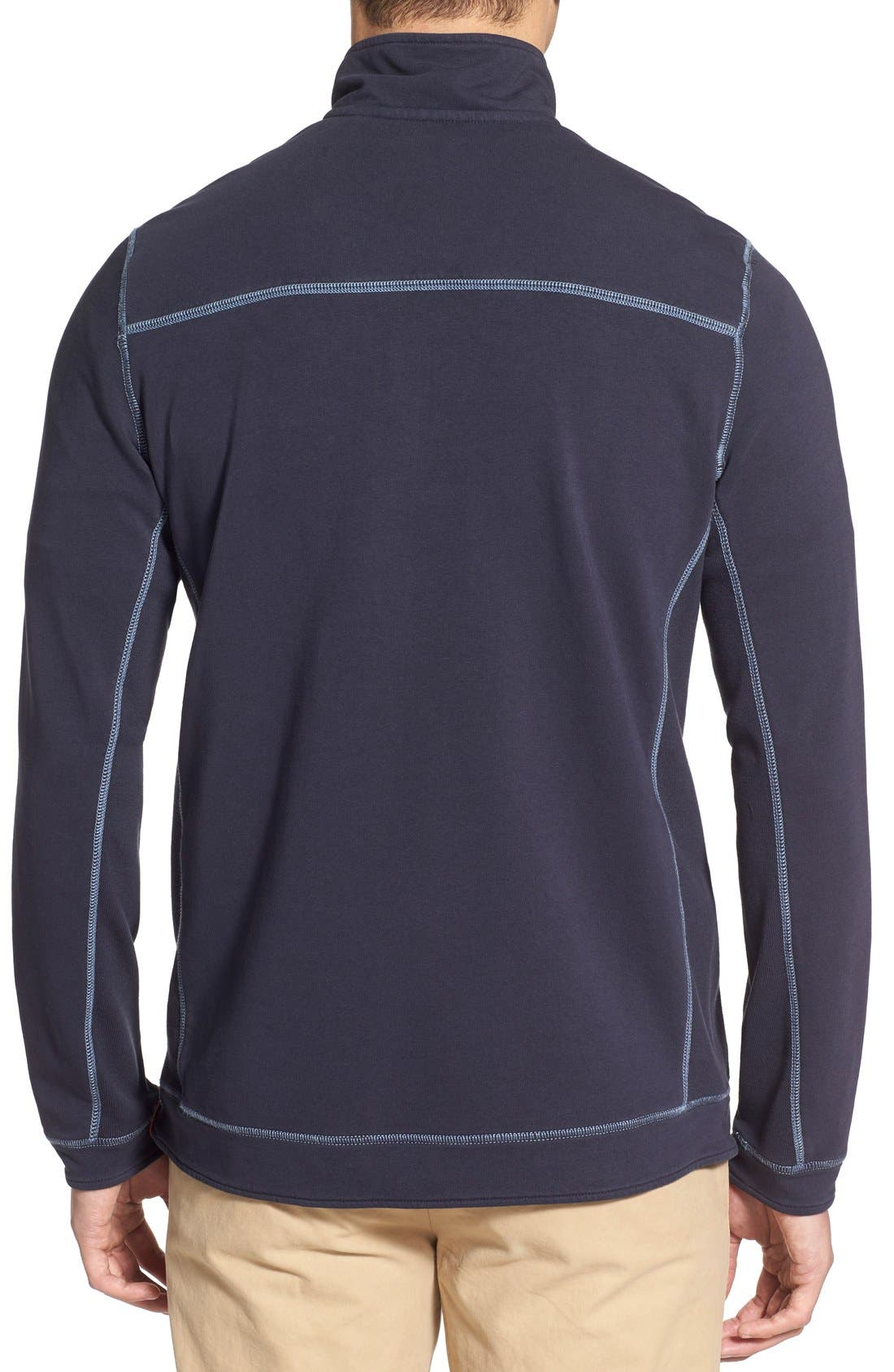 TOMMY BAHAMA,                             'Ben & Terry' Half Zip Pullover,                             Alternate thumbnail 3, color,                             001