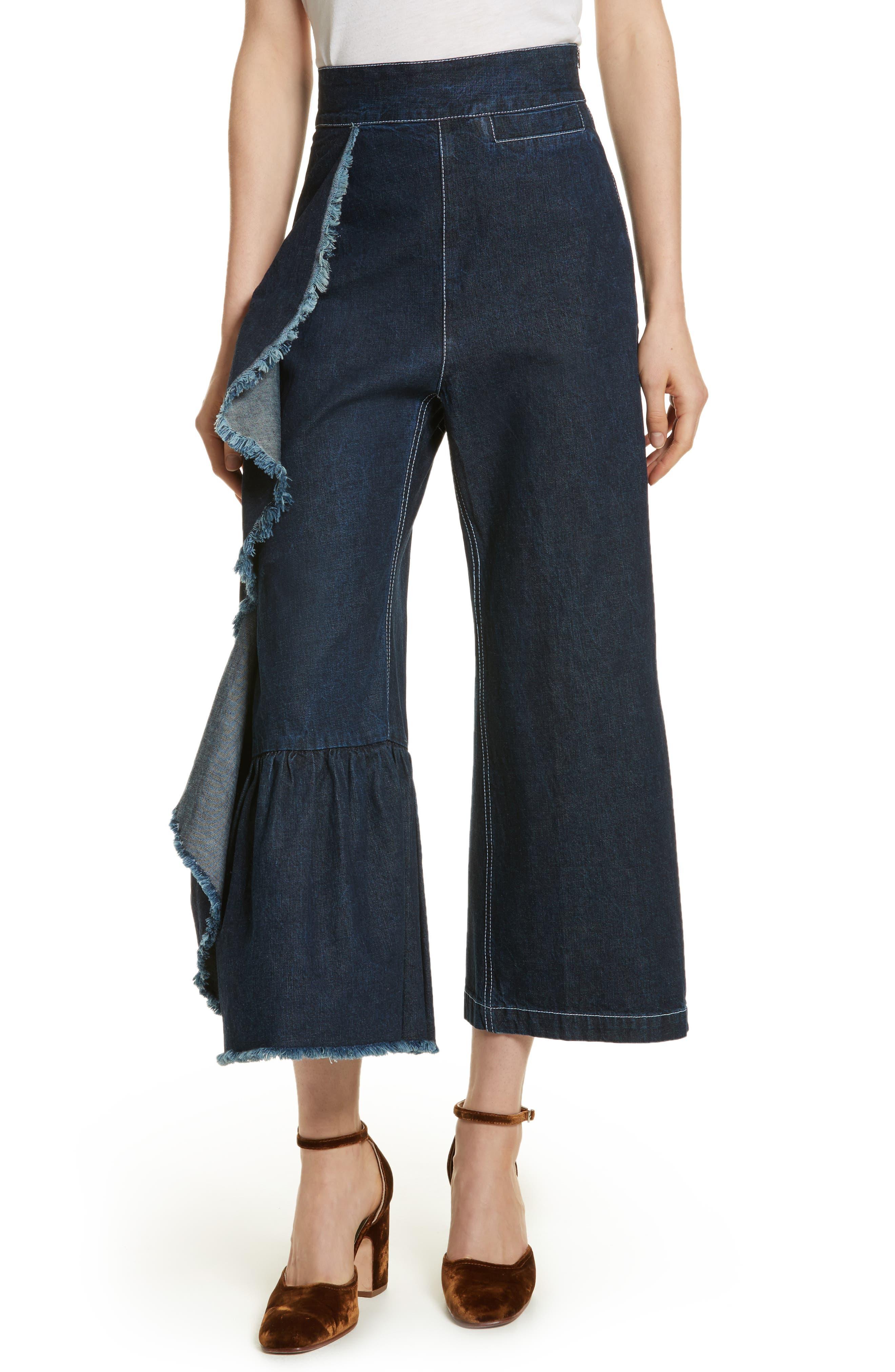 Revel Ruffle Pants,                         Main,                         color, 402