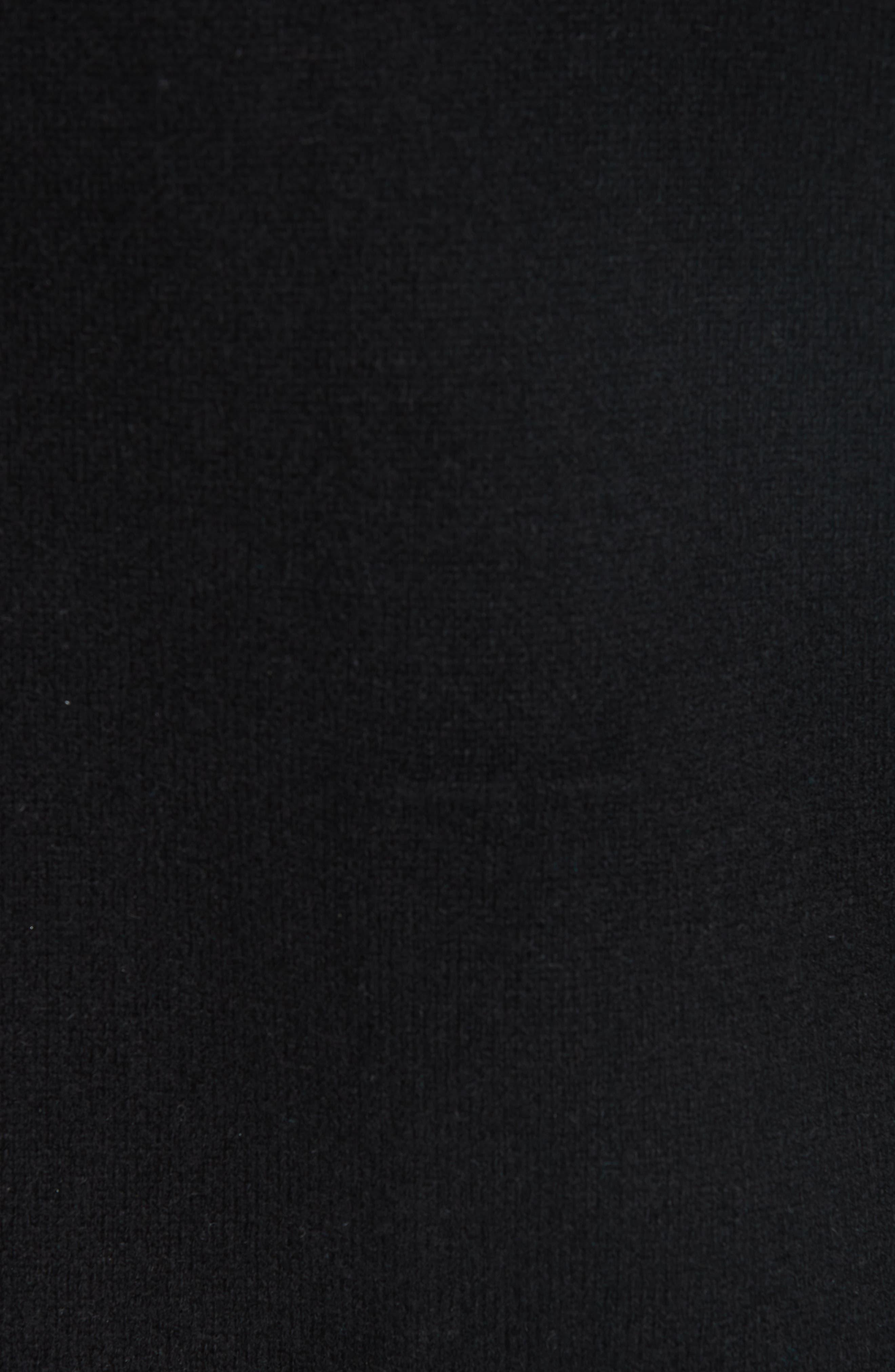 Crystal Drawstring Cashmere Blend Hoodie,                             Alternate thumbnail 6, color,                             BLACK