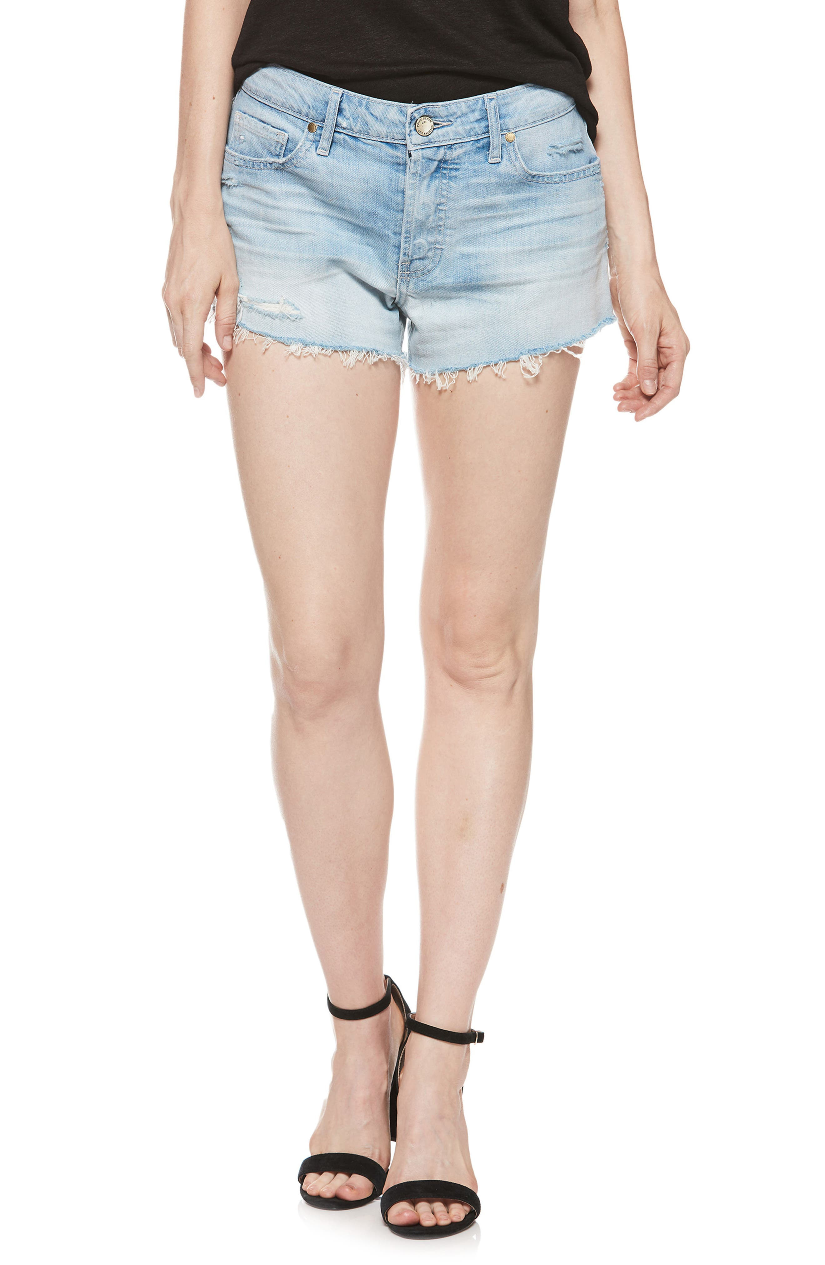 Emmit Relaxed Denim Shorts,                             Main thumbnail 1, color,                             400