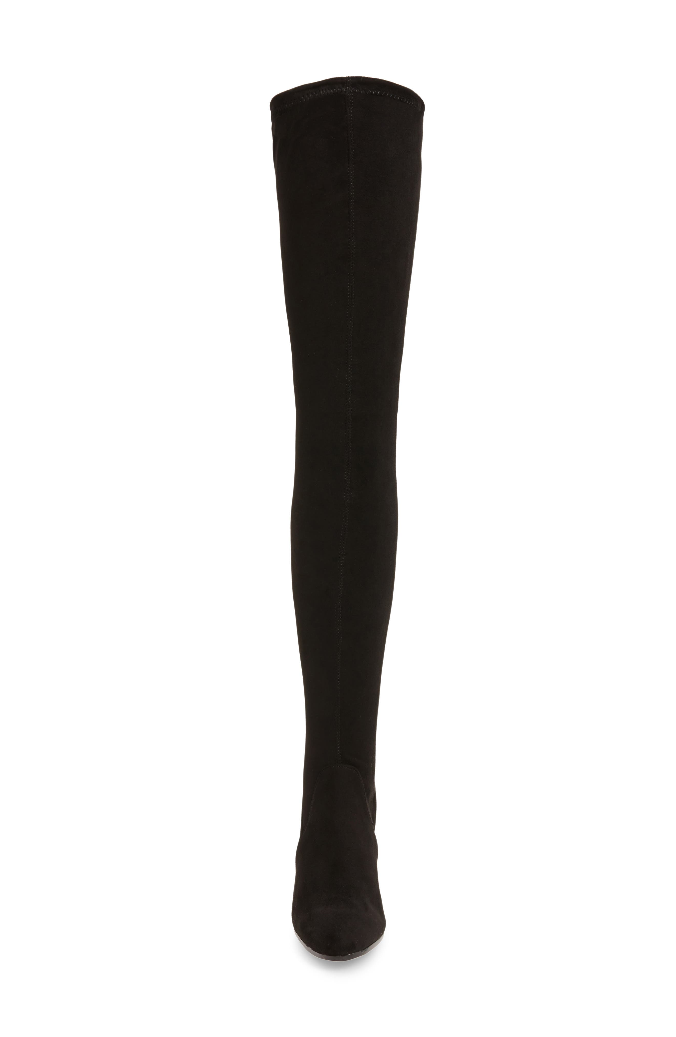 Tash Over the Knee Stretch Boot,                             Alternate thumbnail 3, color,                             001