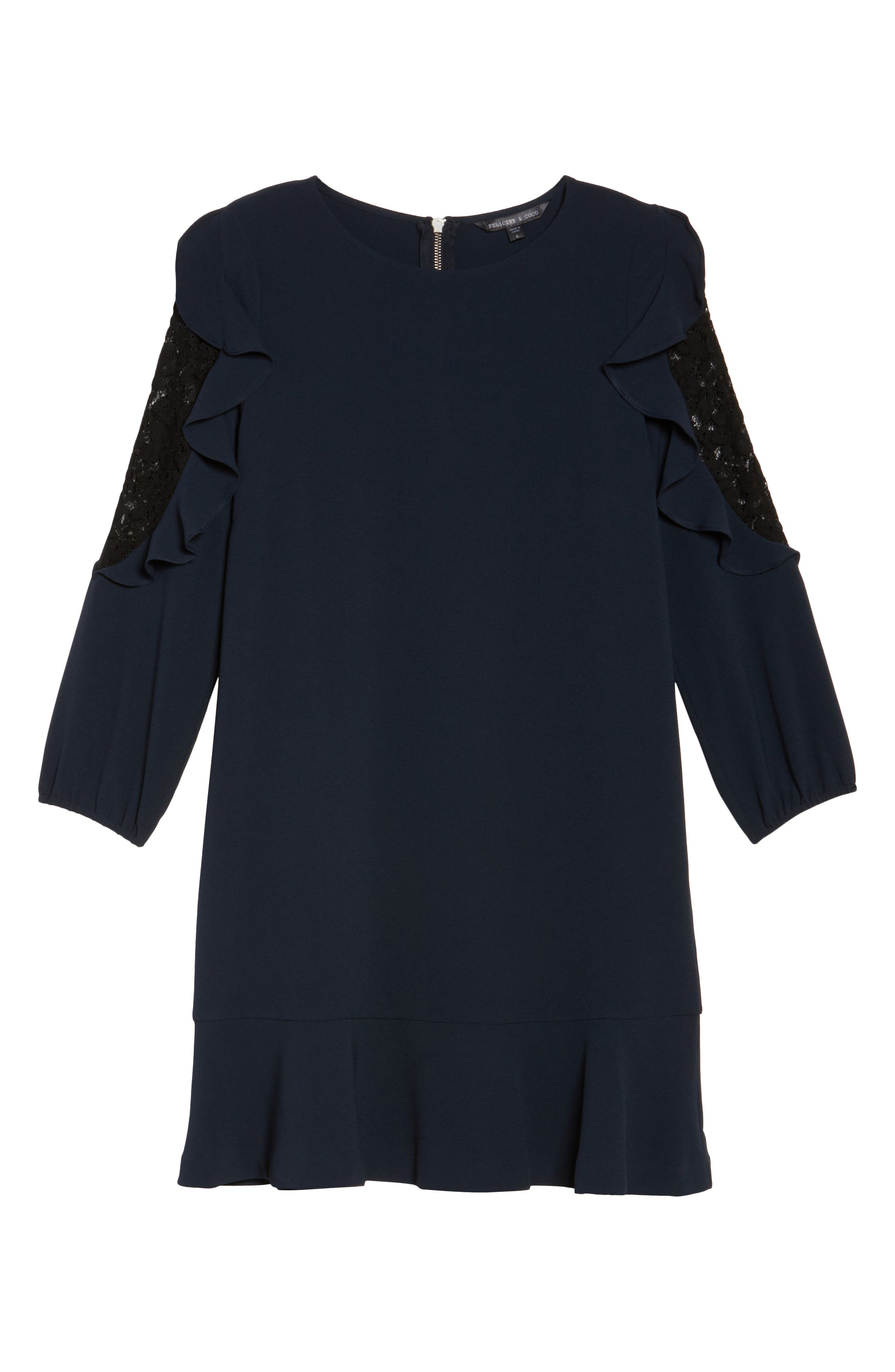 Stefani Ruffle Lace Dress,                             Alternate thumbnail 6, color,