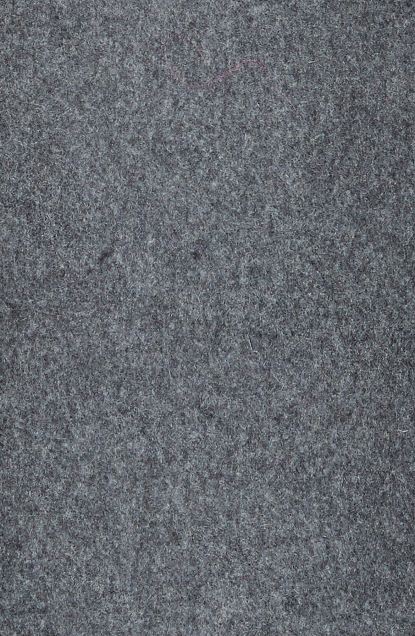 Edwina Long Double Breasted Wool Blend Coat,                             Alternate thumbnail 6, color,                             076