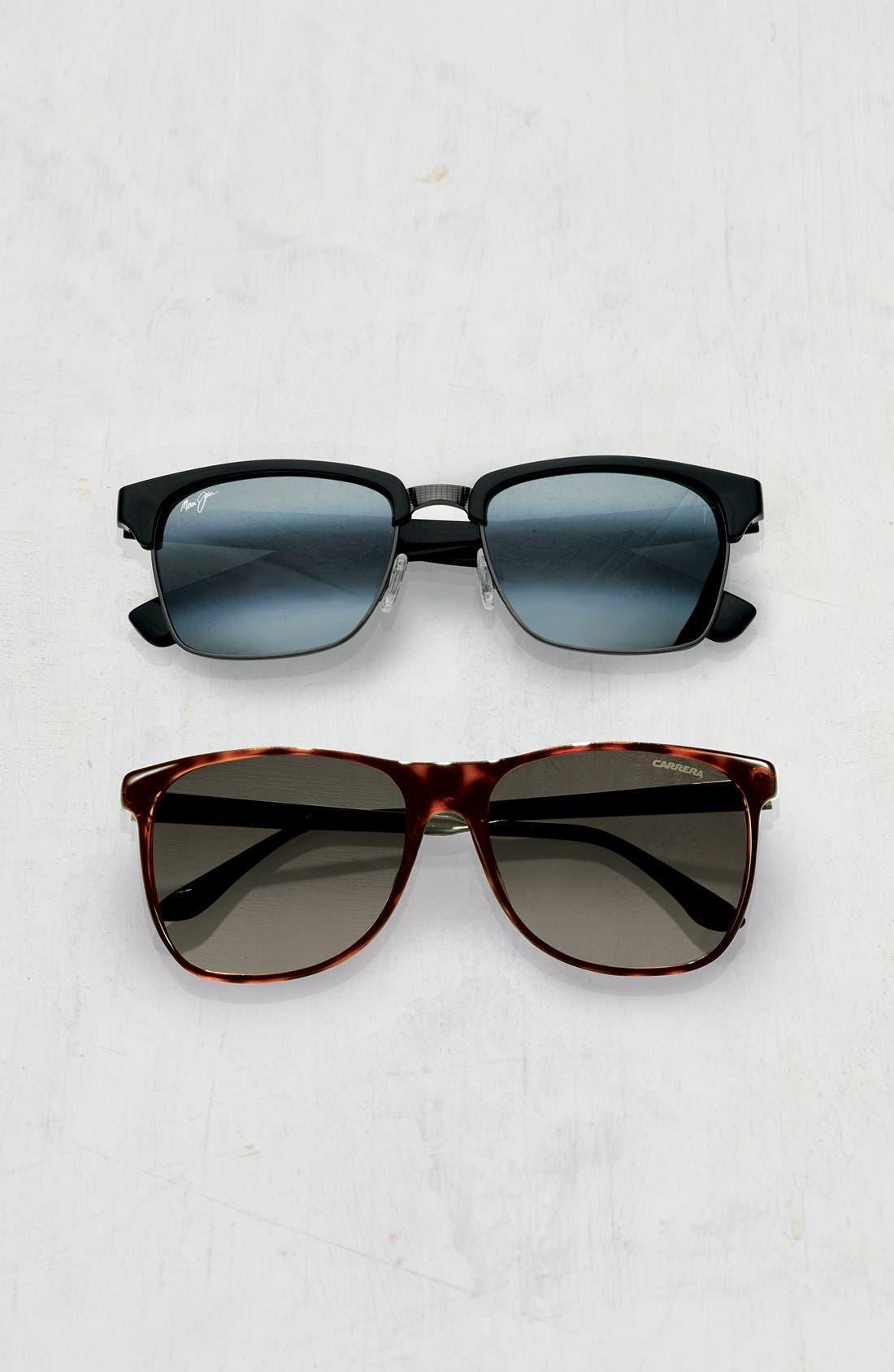 'Kawika - PolarizedPlus<sup>®</sup>2' 54mm Sunglasses,                             Alternate thumbnail 2, color,                             BLACK GLOSS/ PEWTER