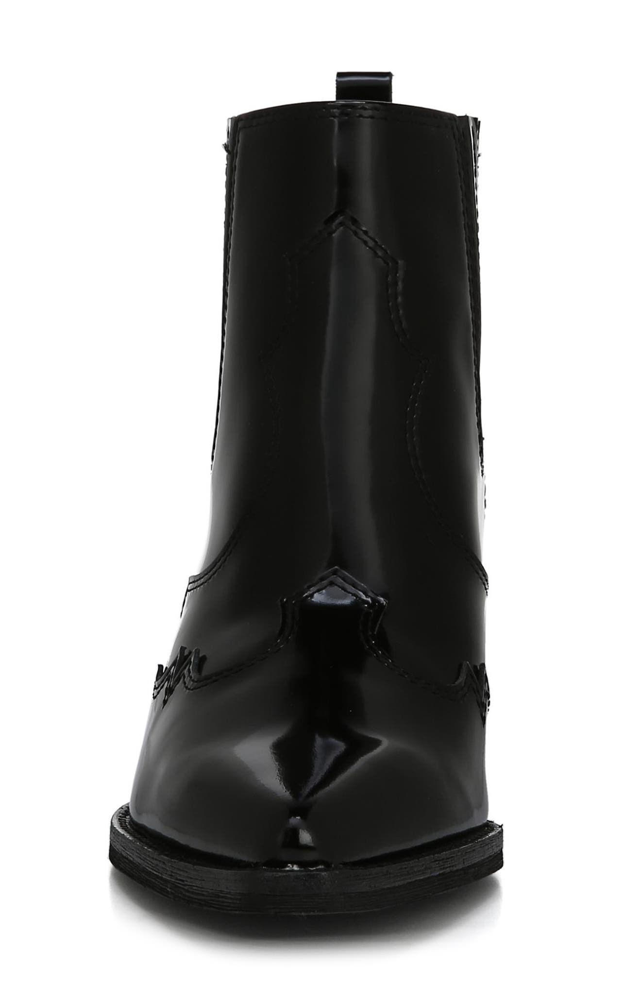 Winona Bootie,                             Alternate thumbnail 4, color,                             BLACK/ BLACK LEATHER