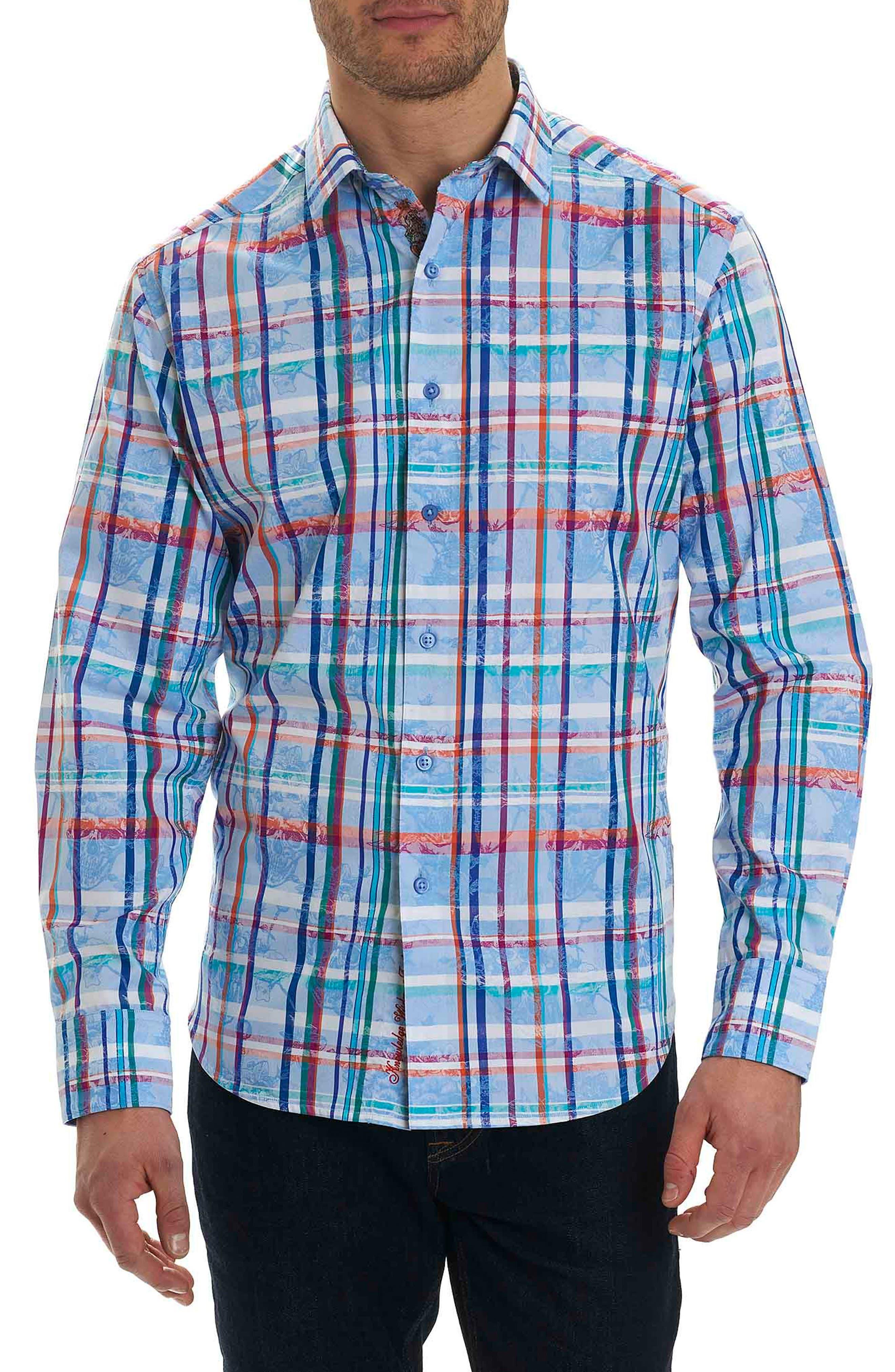 Stowe Classic Fit Plaid Sport Shirt,                             Main thumbnail 1, color,                             400