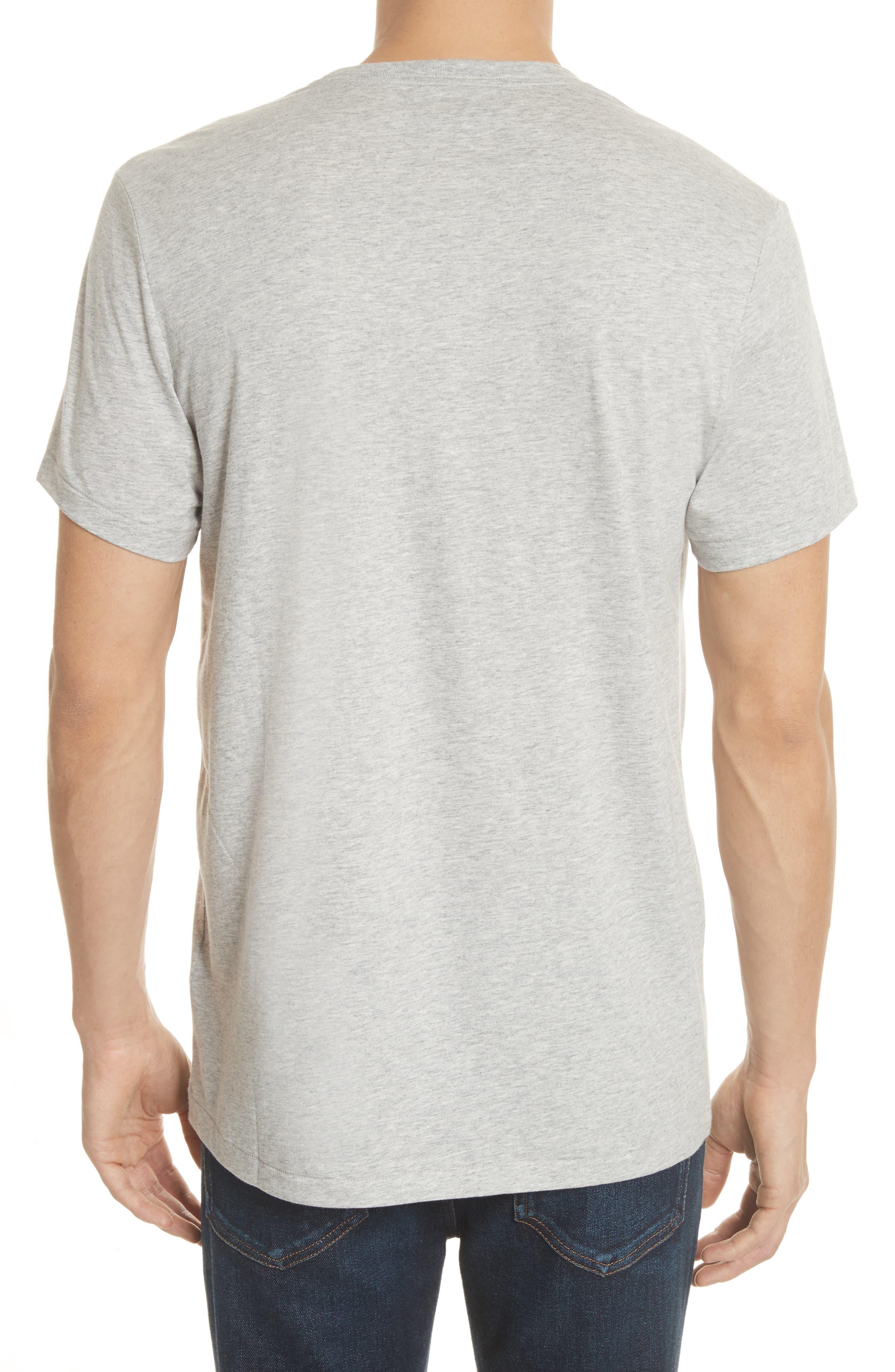 Jadforth V-Neck T-Shirt,                             Alternate thumbnail 2, color,                             PALE GREY MELANGE