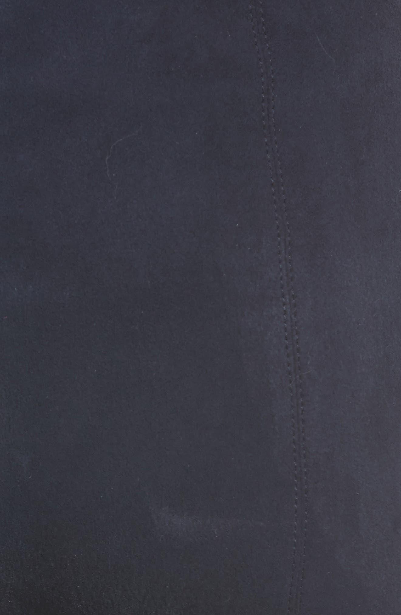 Stretch Suede Capri Pants,                             Alternate thumbnail 5, color,                             410