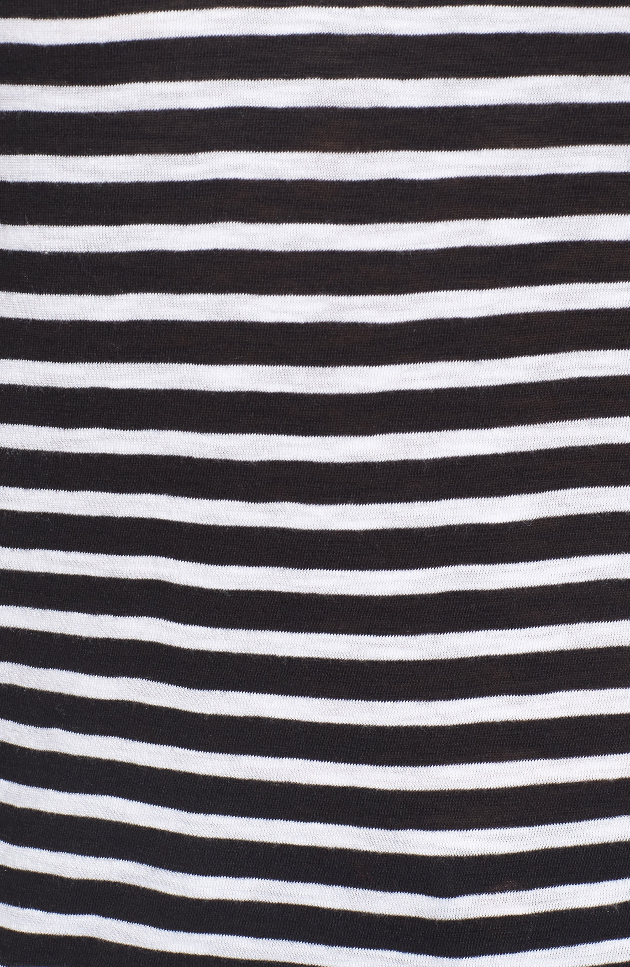 CASLON<SUP>®</SUP>,                             Long Sleeve Crewneck Tee,                             Alternate thumbnail 6, color,                             BLACK- WHITE STRIPE