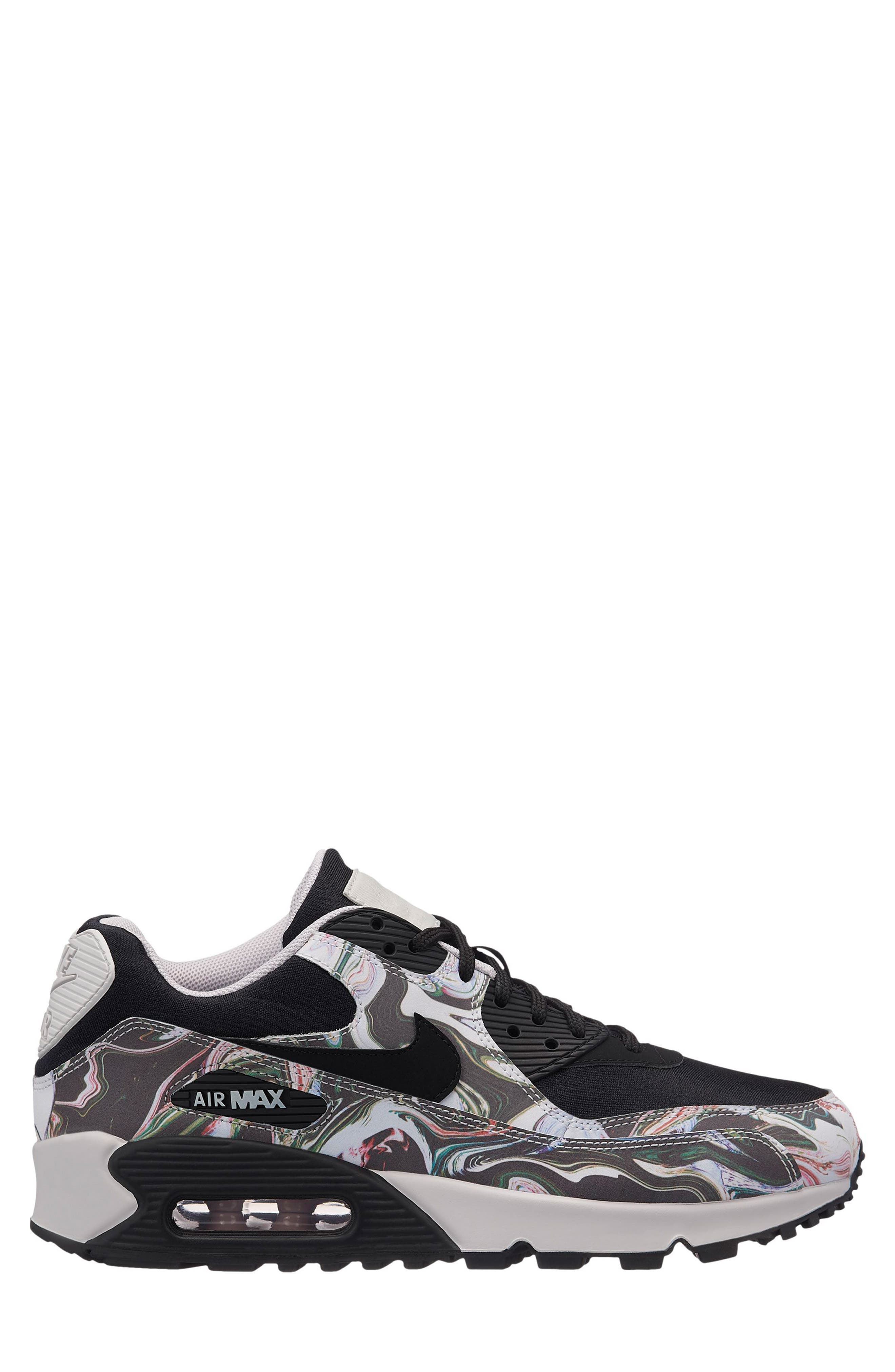 Air Max 90 Marble Sneaker,                             Main thumbnail 1, color,                             001