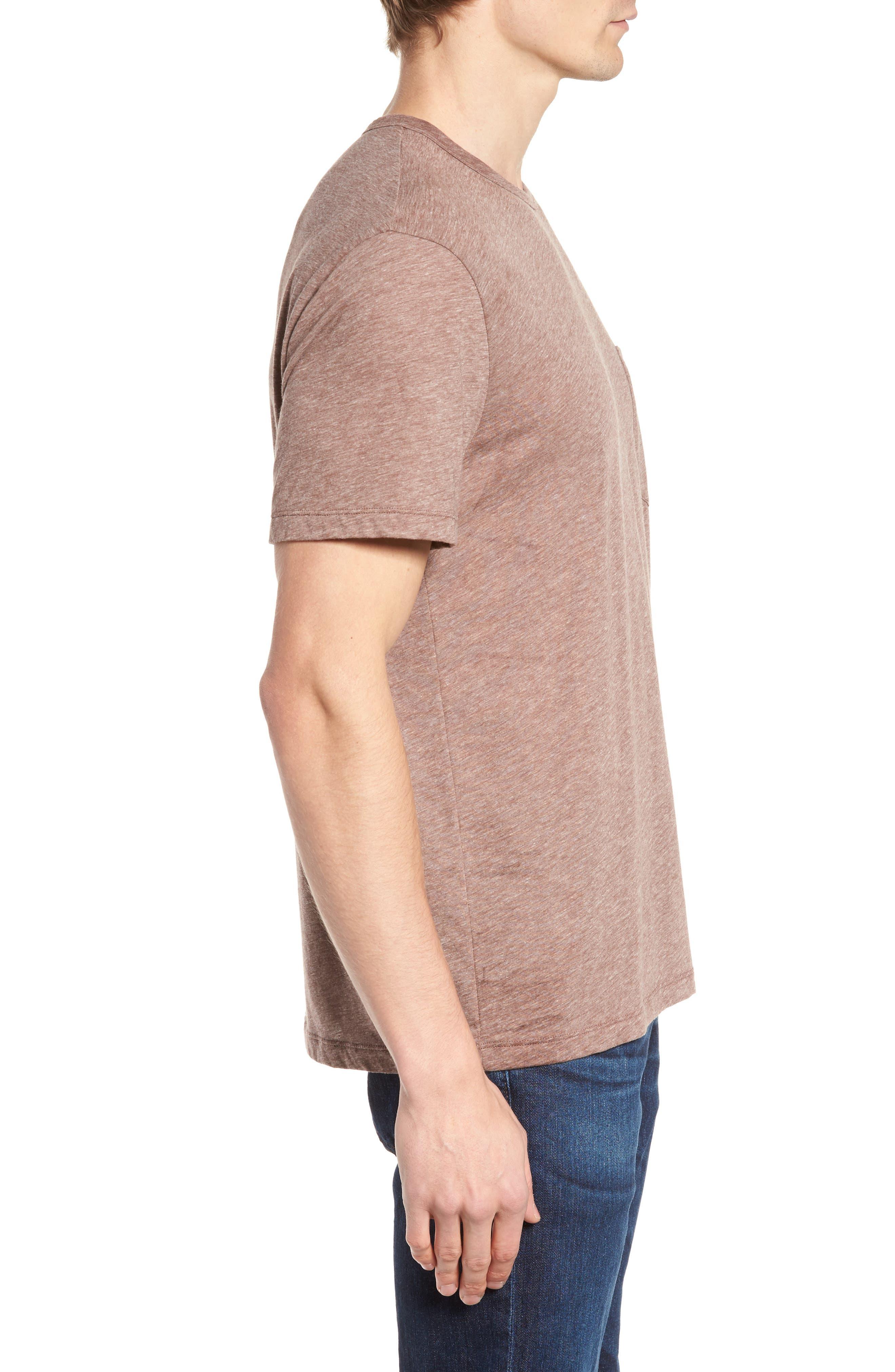 Slubbed Cotton & Linen Pocket T-Shirt,                             Alternate thumbnail 9, color,