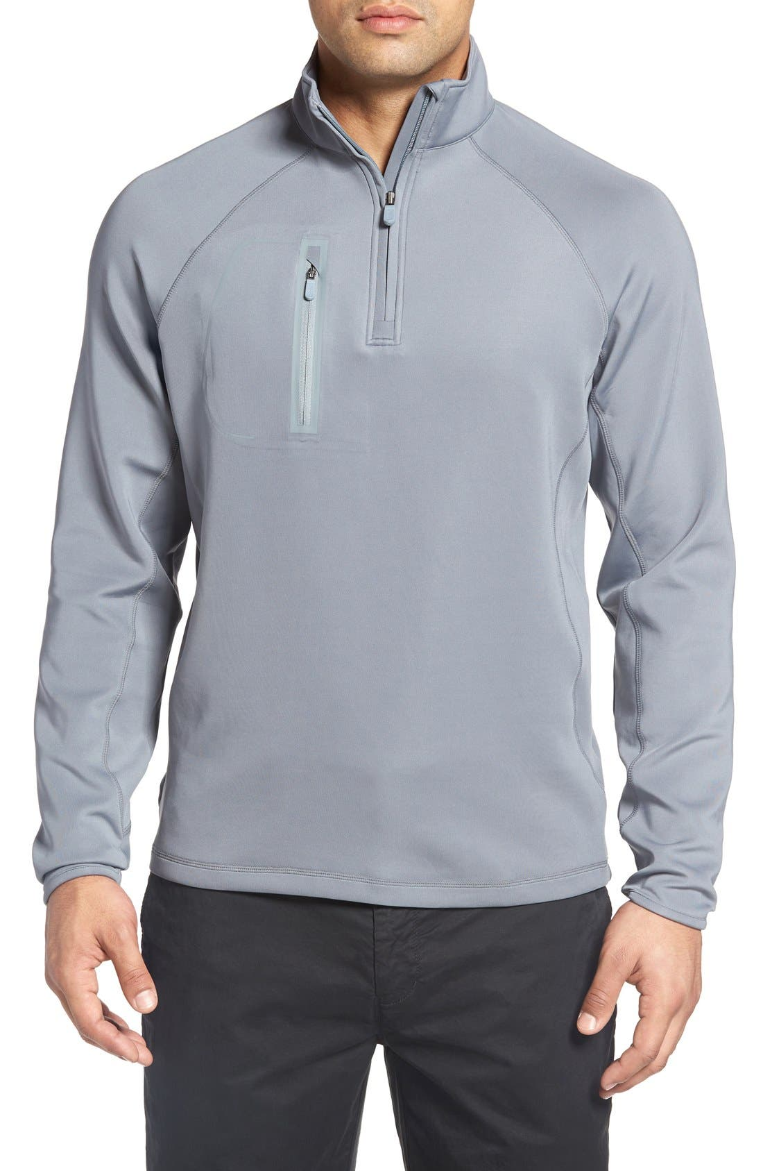 XH2O Crawford Stretch Quarter Zip Golf Pullover,                             Main thumbnail 4, color,