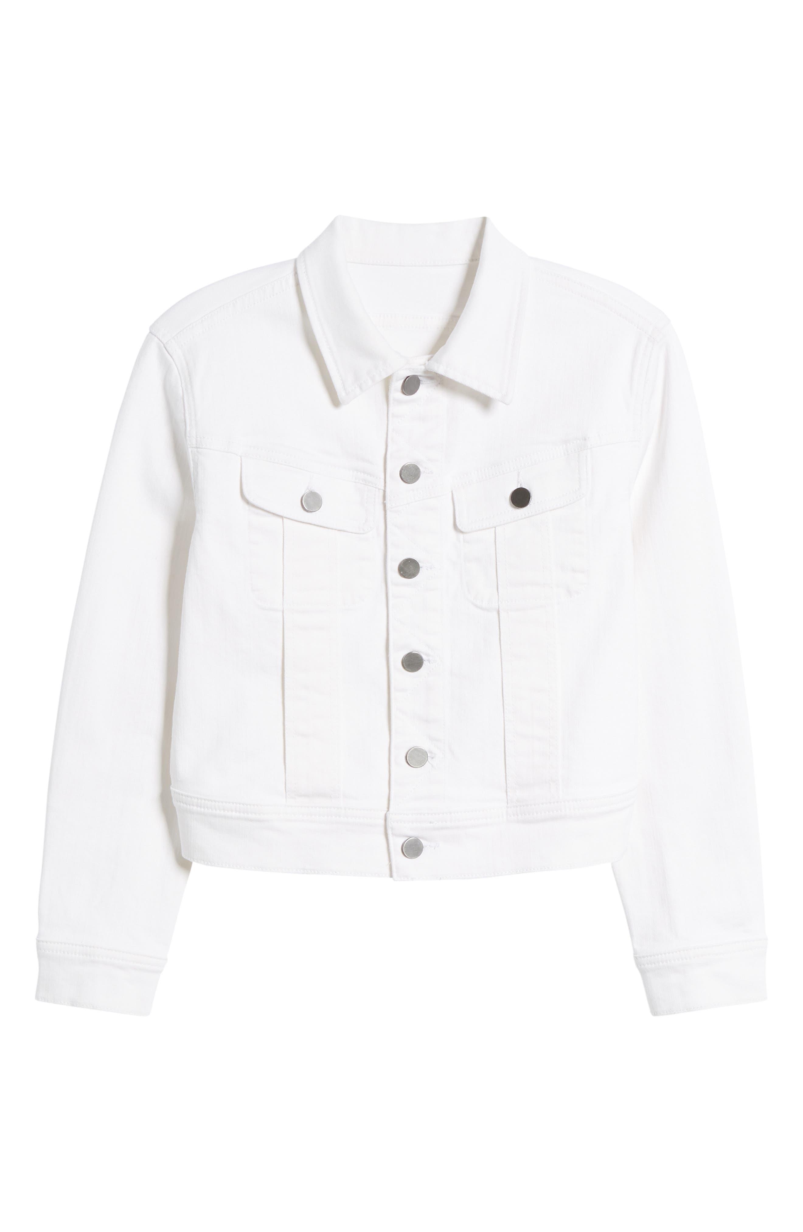 White Denim Jacket,                             Alternate thumbnail 6, color,                             100