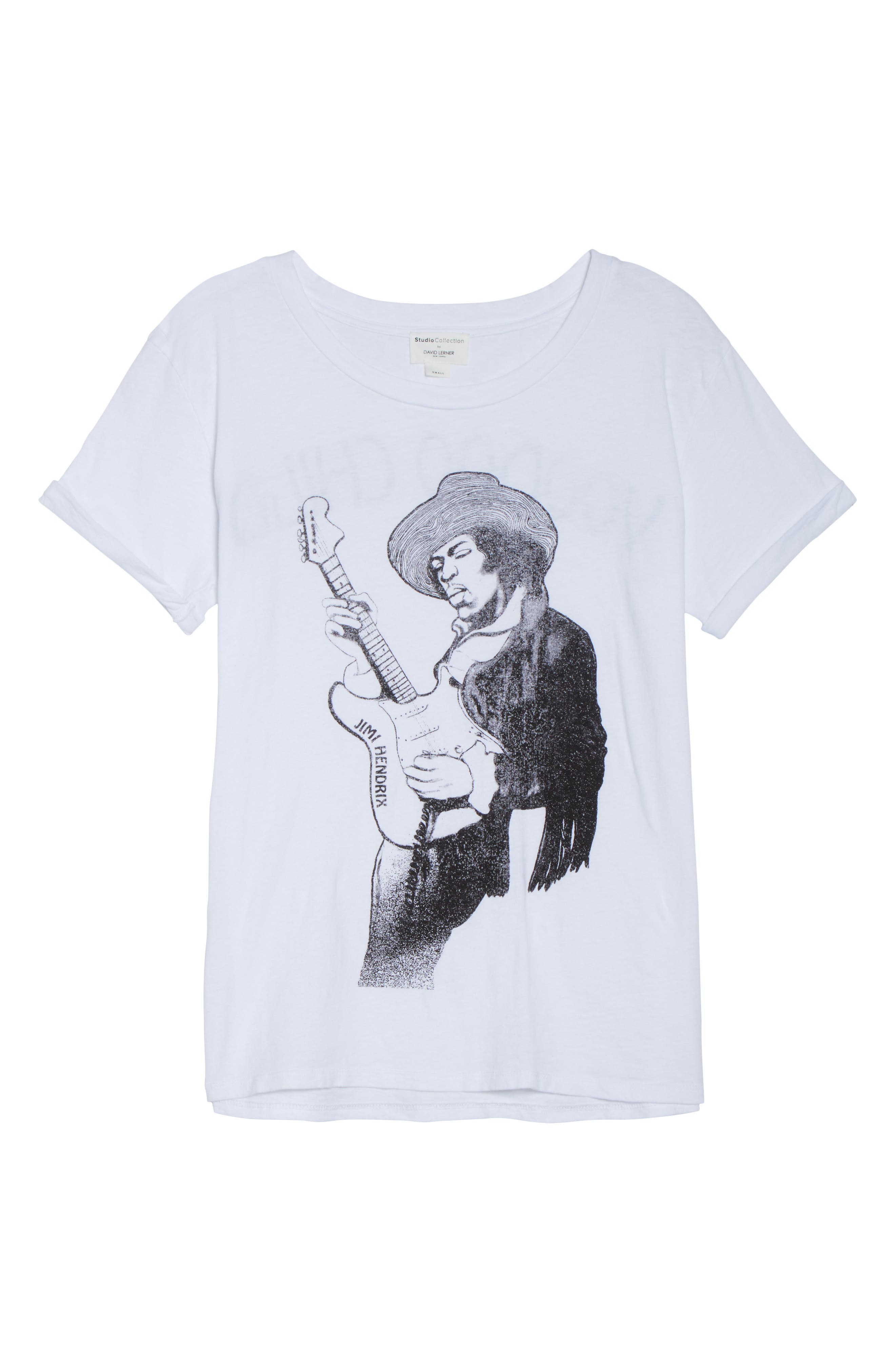 Jimi Hendrix Tee,                             Alternate thumbnail 6, color,                             108