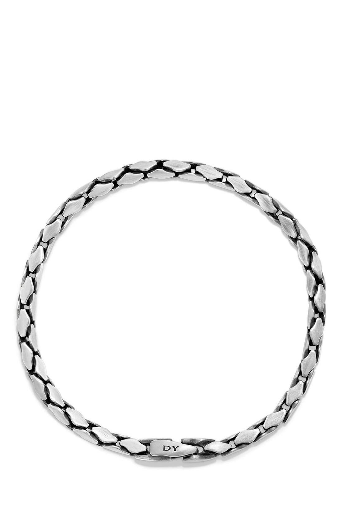 'Chain' Small Fluted Chain Bracelet,                             Alternate thumbnail 3, color,                             SILVER