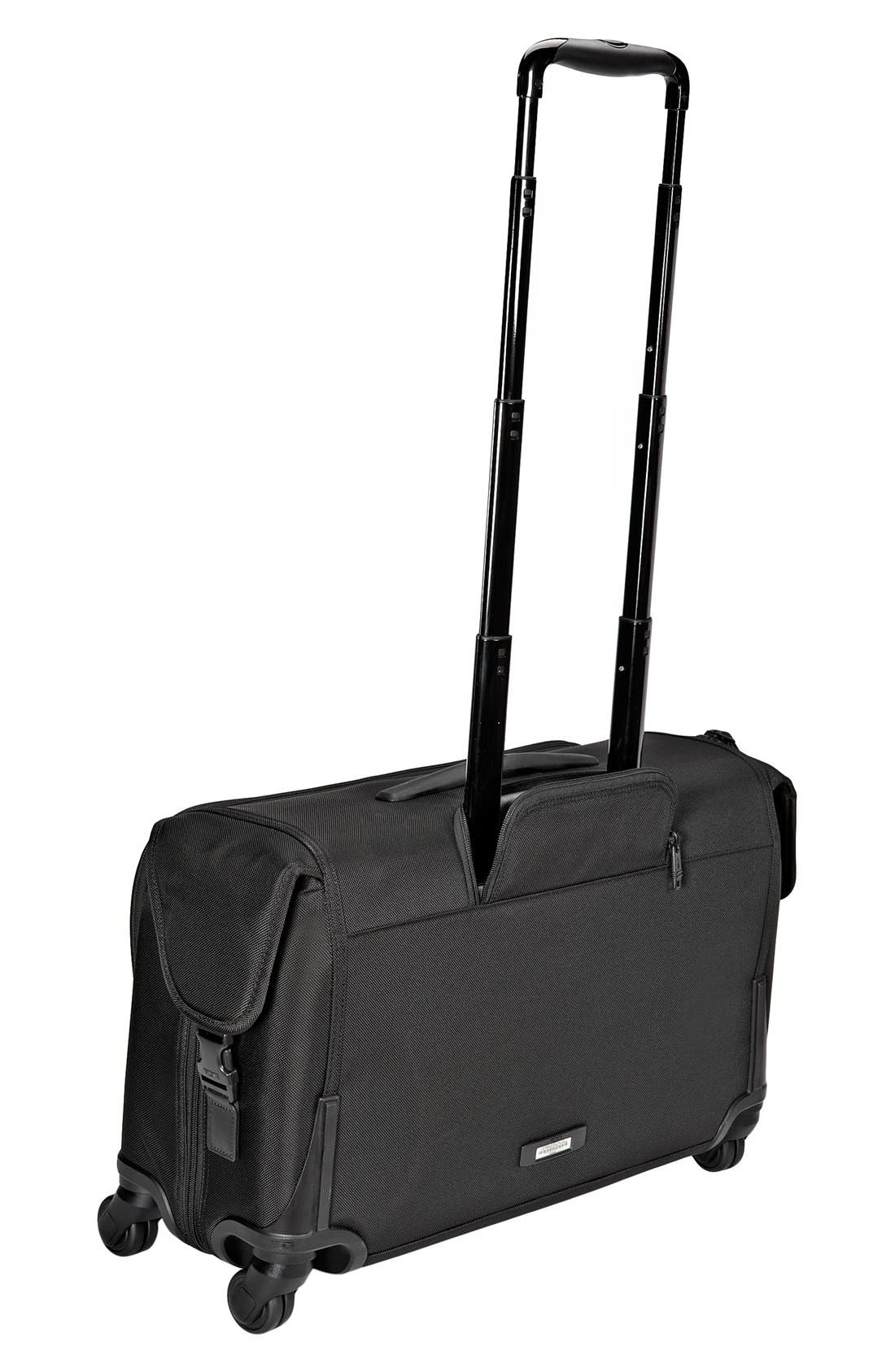 Alpha 2 Wheeled 22-Inch Carry-On Garment Bag,                             Alternate thumbnail 3, color,                             BLACK