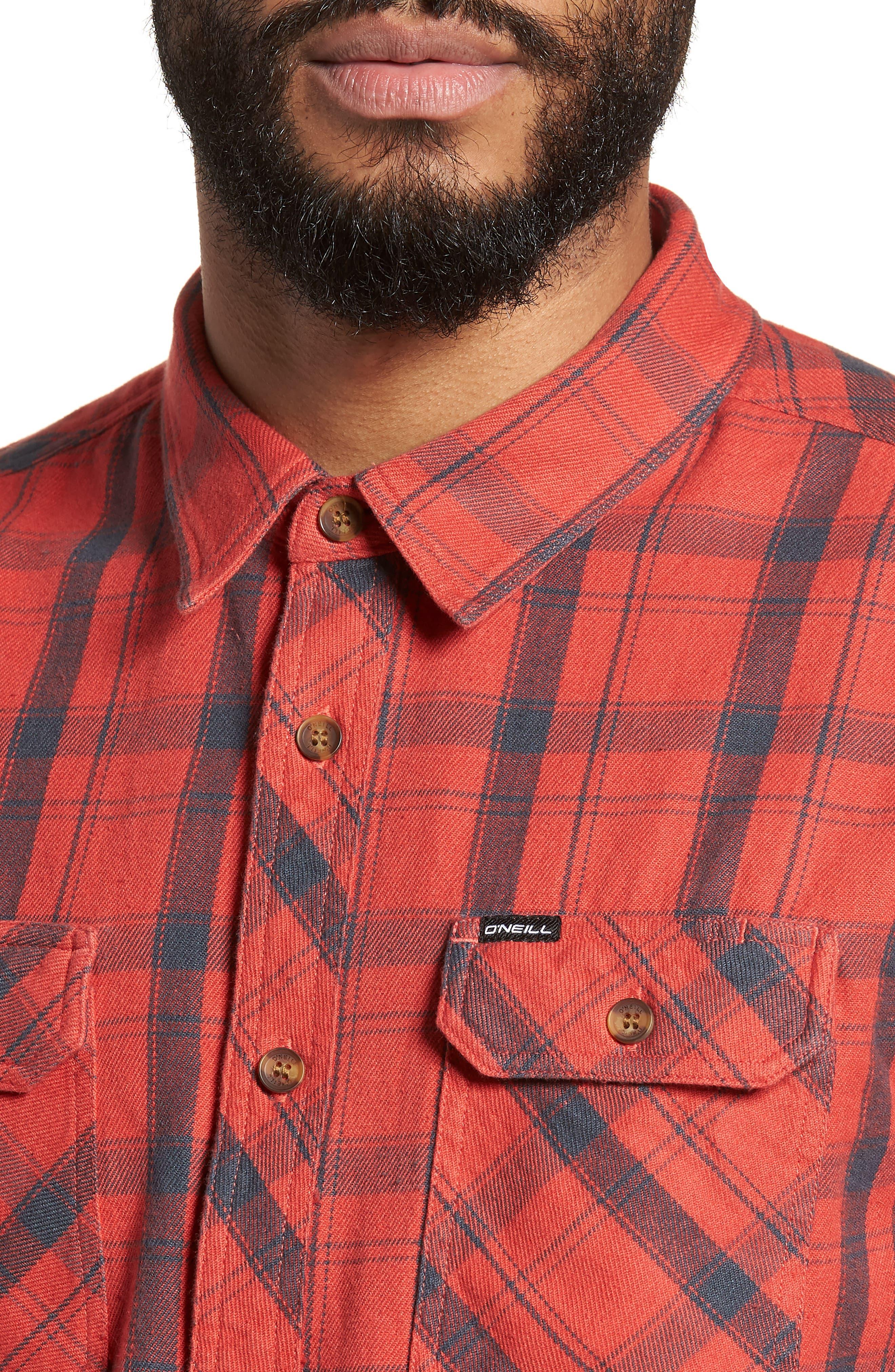 Carpenter Flannel Shirt,                             Alternate thumbnail 11, color,