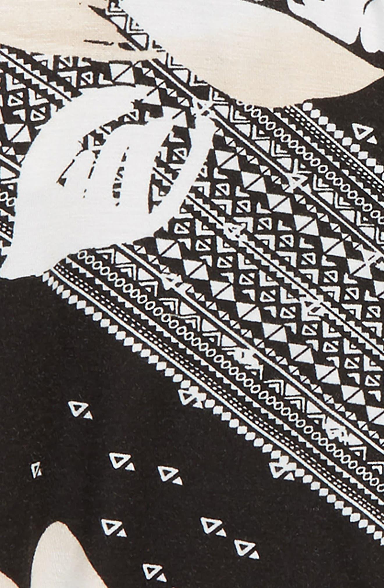 June Bell Sleeve Top,                             Alternate thumbnail 2, color,                             BLACK