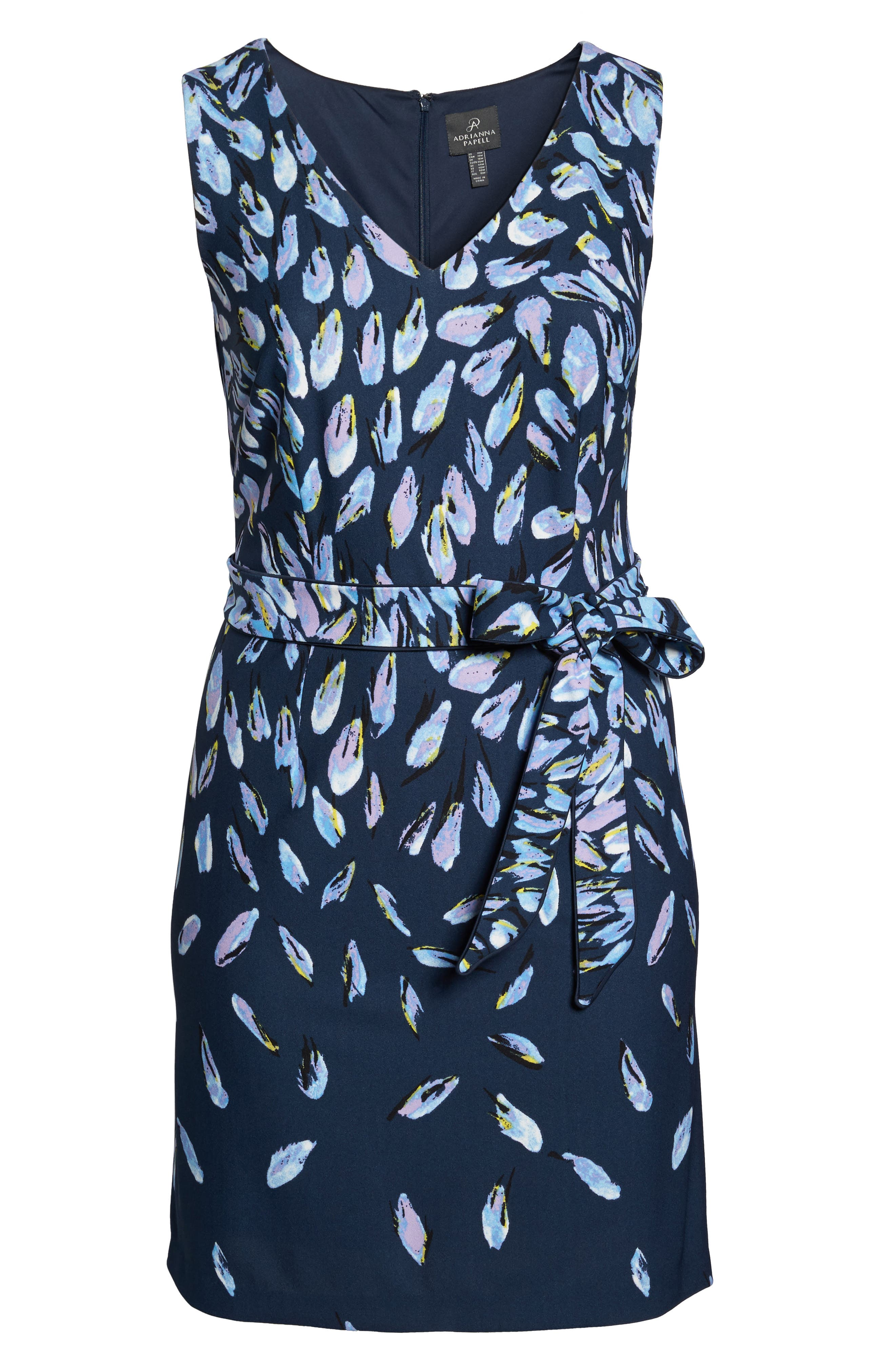 Fluttering Petals Fit & Flare Dress,                             Alternate thumbnail 6, color,