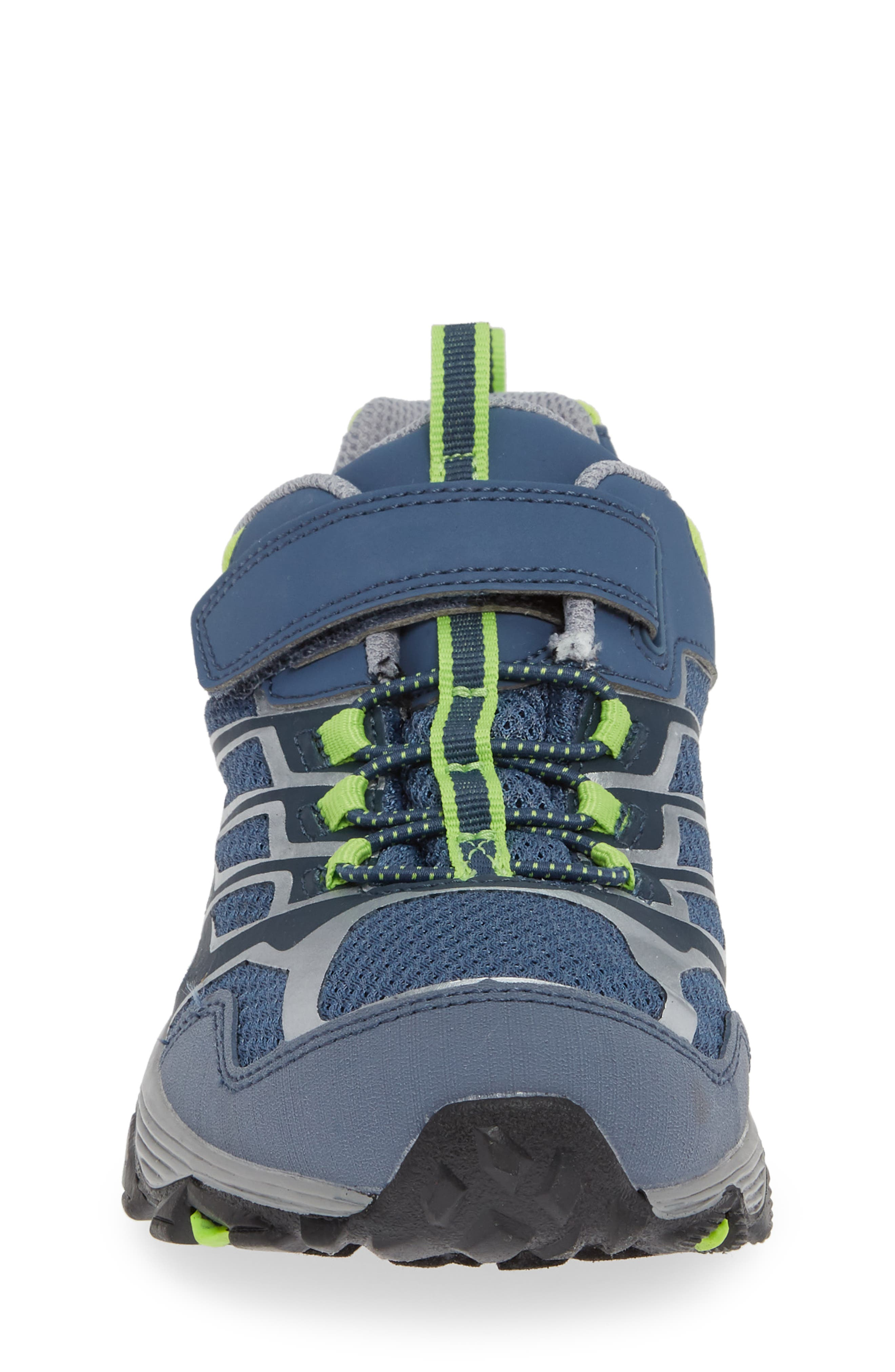 Moab FST Polar Low Waterproof Sneaker,                             Alternate thumbnail 4, color,                             GREY/ GREEN