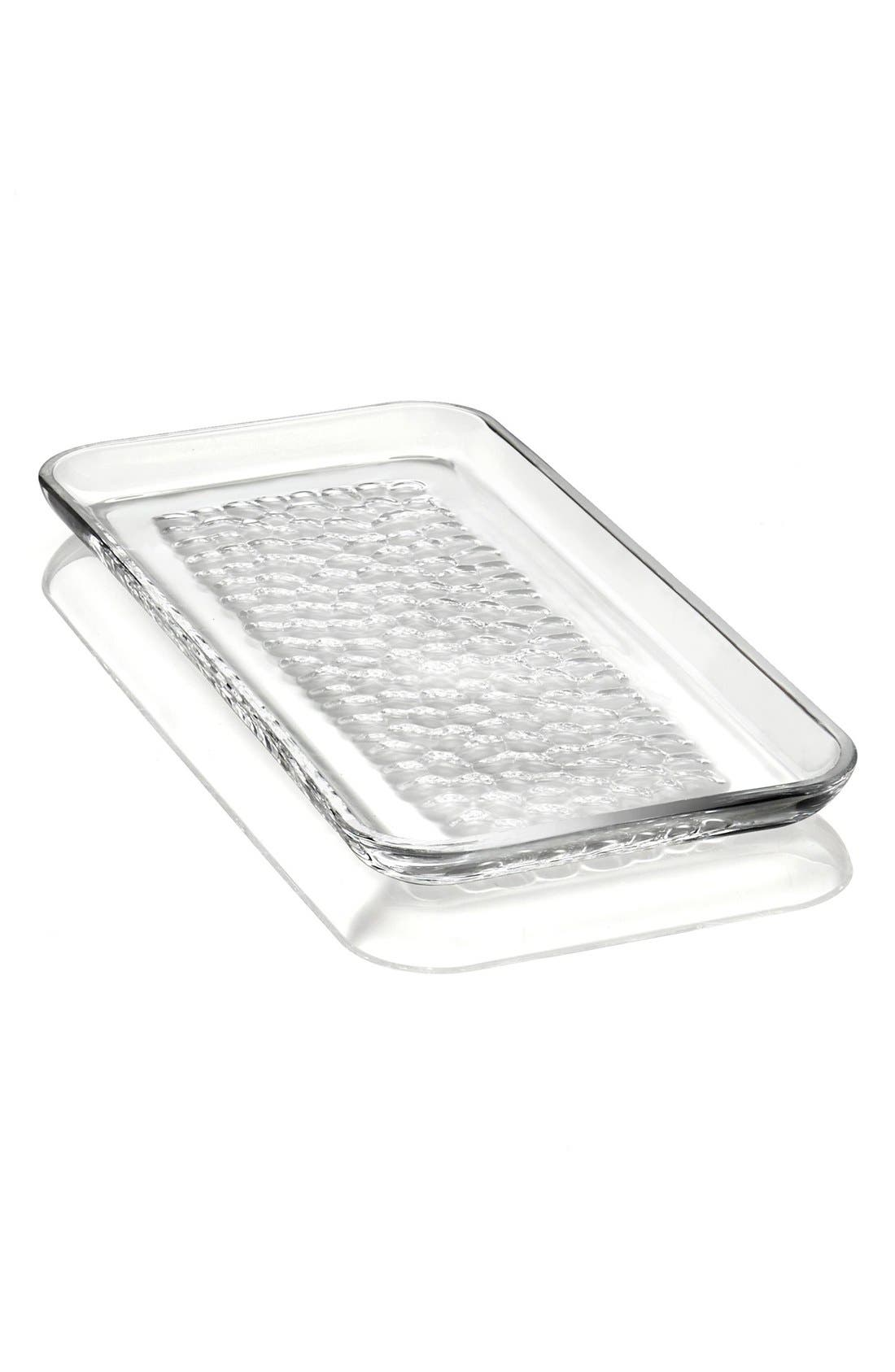 'Pearl' Rectangular Lead Crystal Platter,                             Main thumbnail 1, color,
