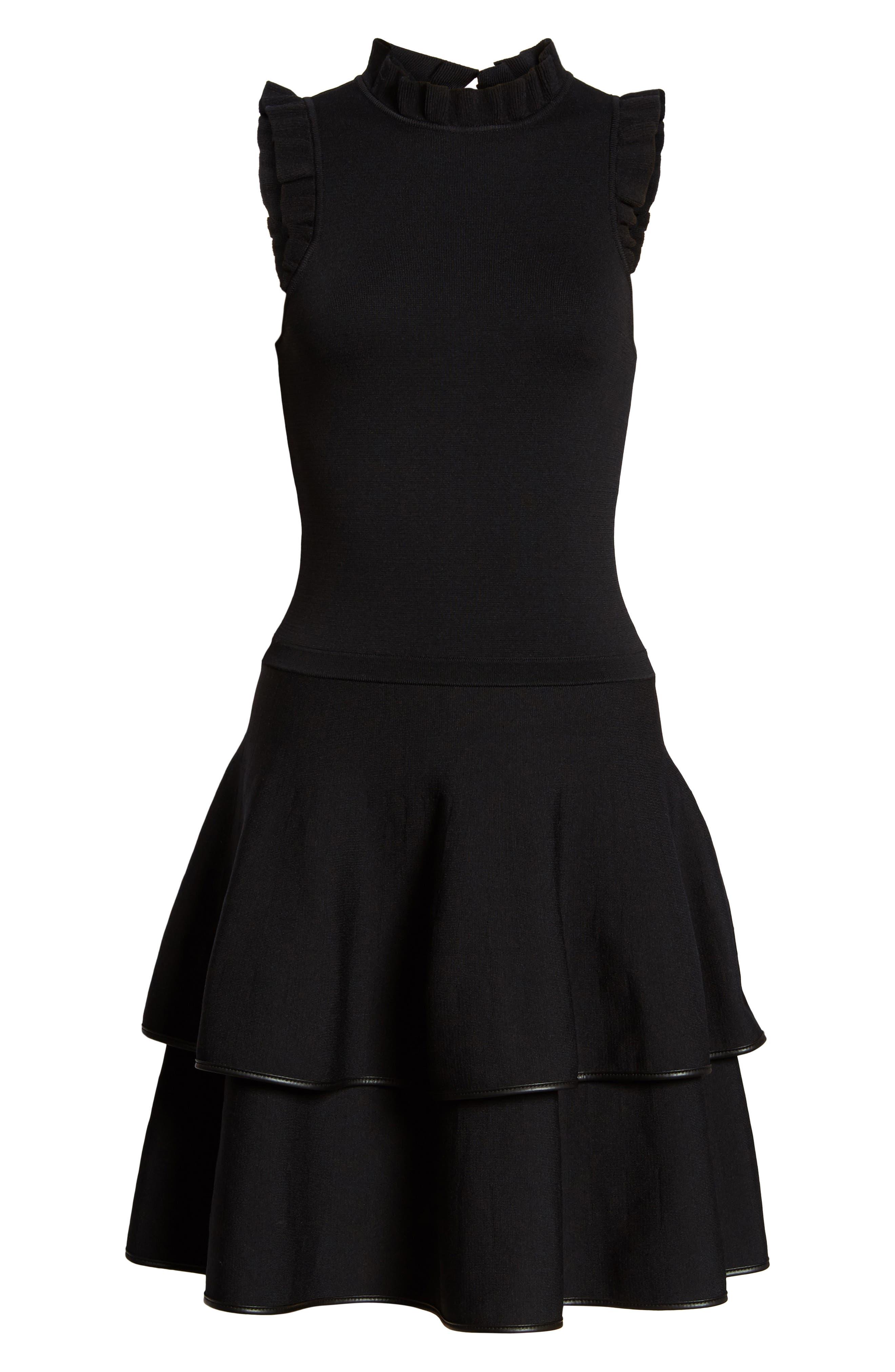 Ryker Fit & Flare Dress,                             Alternate thumbnail 6, color,                             001