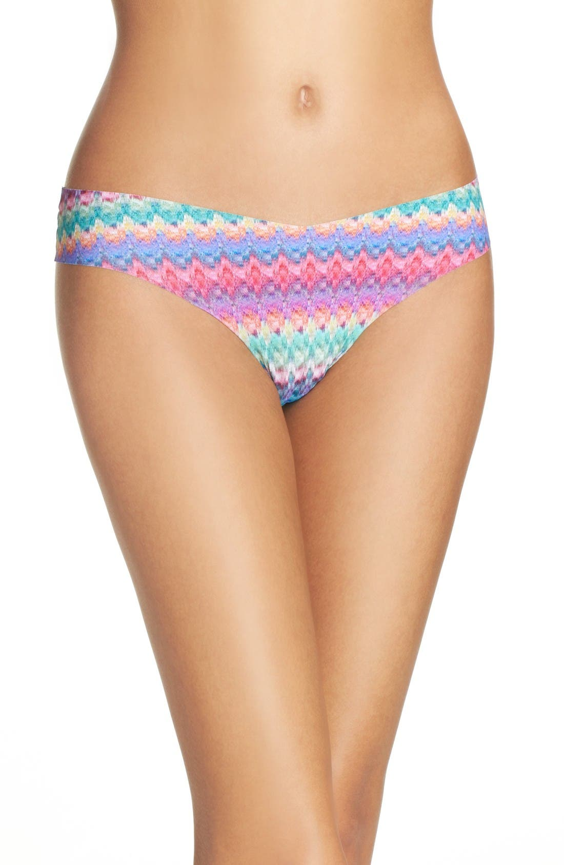 Print Microfiber Thong,                             Main thumbnail 86, color,