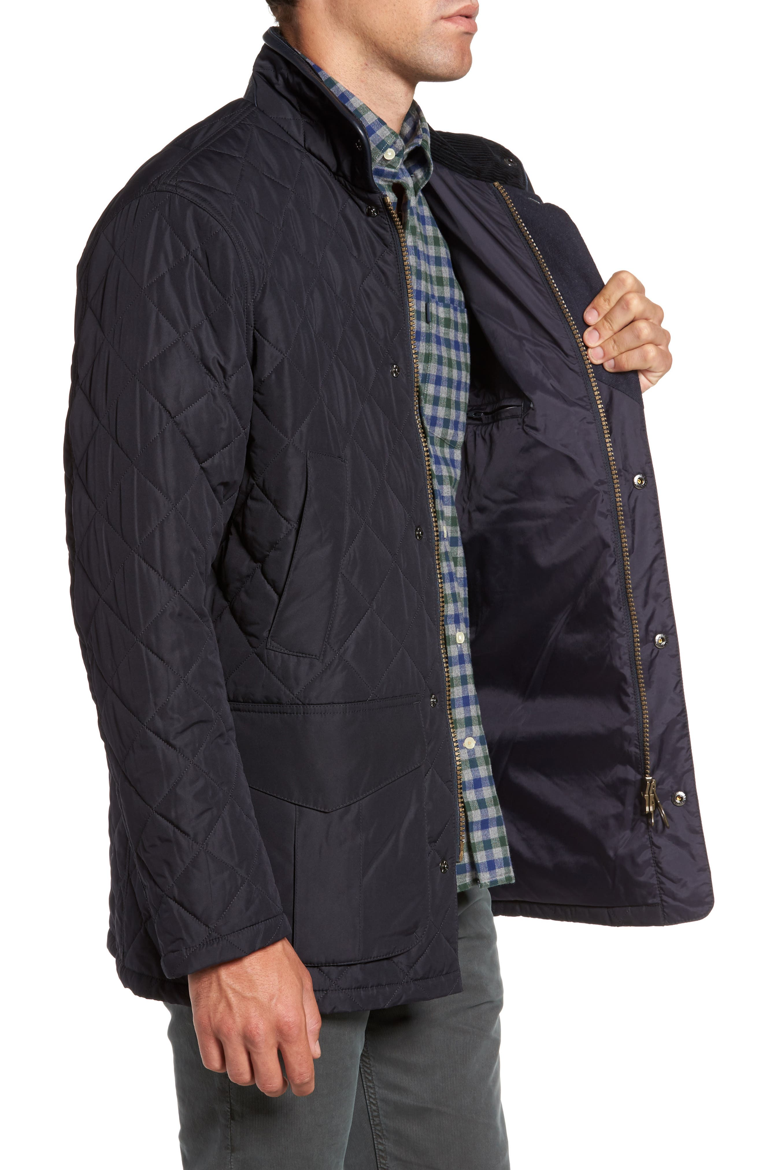 Devon Quilted Water-Resistant Jacket,                             Alternate thumbnail 3, color,                             410