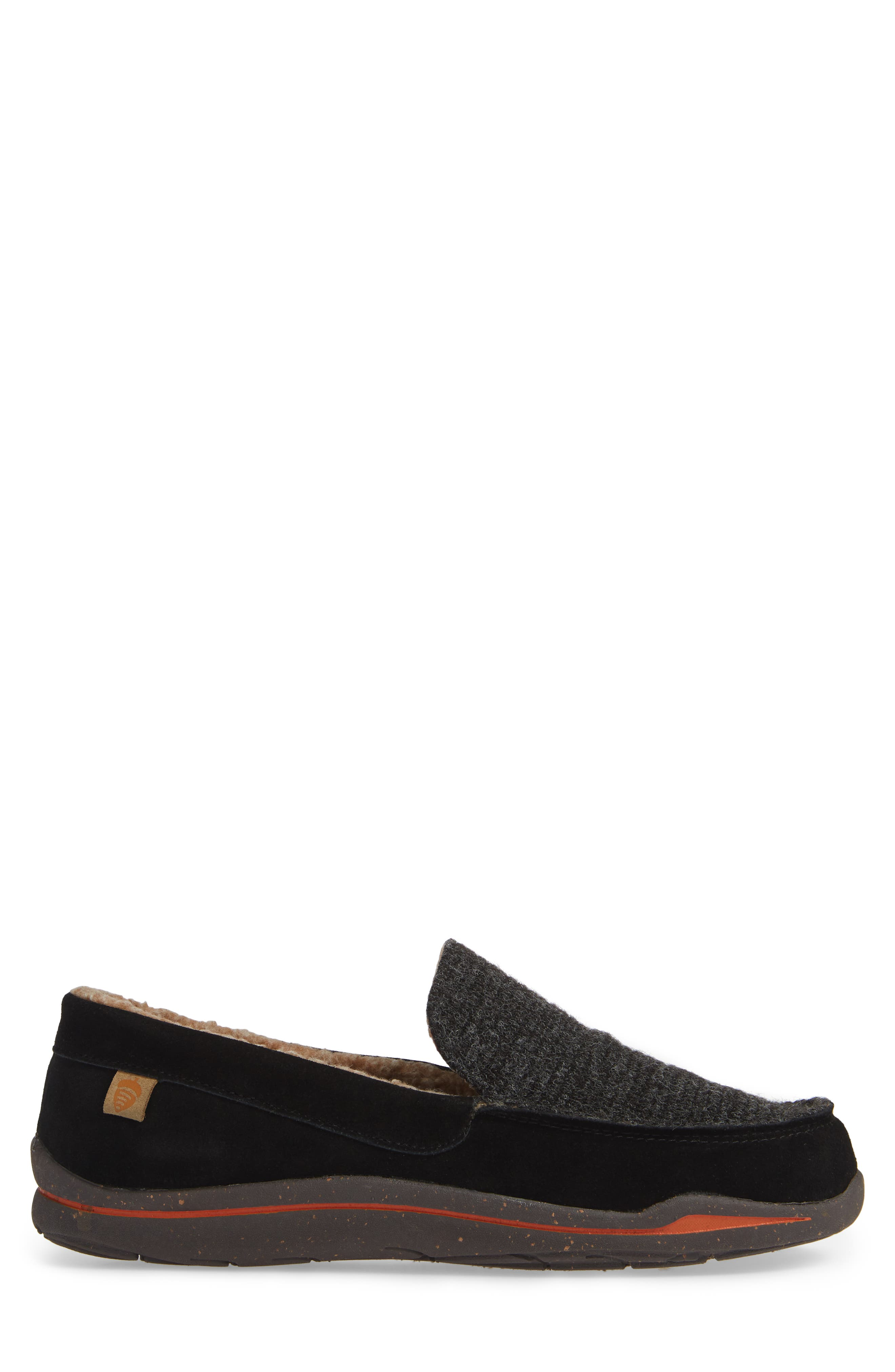 Ellsworth Moc Toe Slipper,                             Alternate thumbnail 3, color,                             BLACK