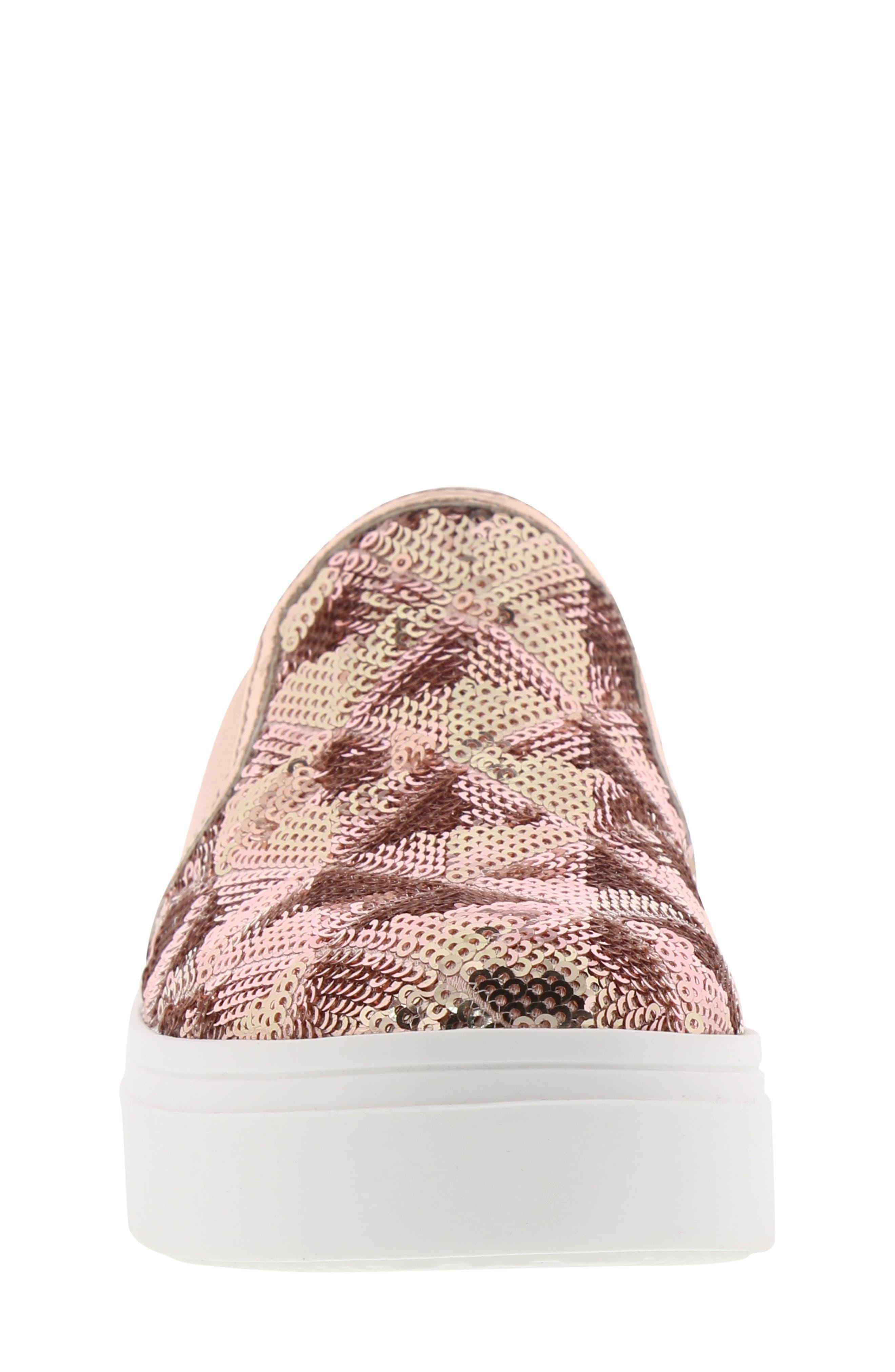 Sheena Pam Sequin Sneaker,                             Alternate thumbnail 4, color,                             ROSE GOLD