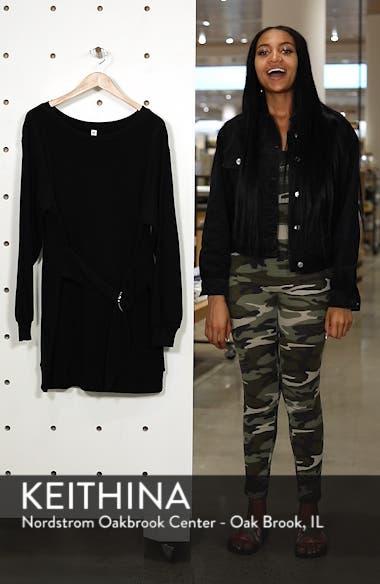 Belted Sweatshirt Dress, sales video thumbnail