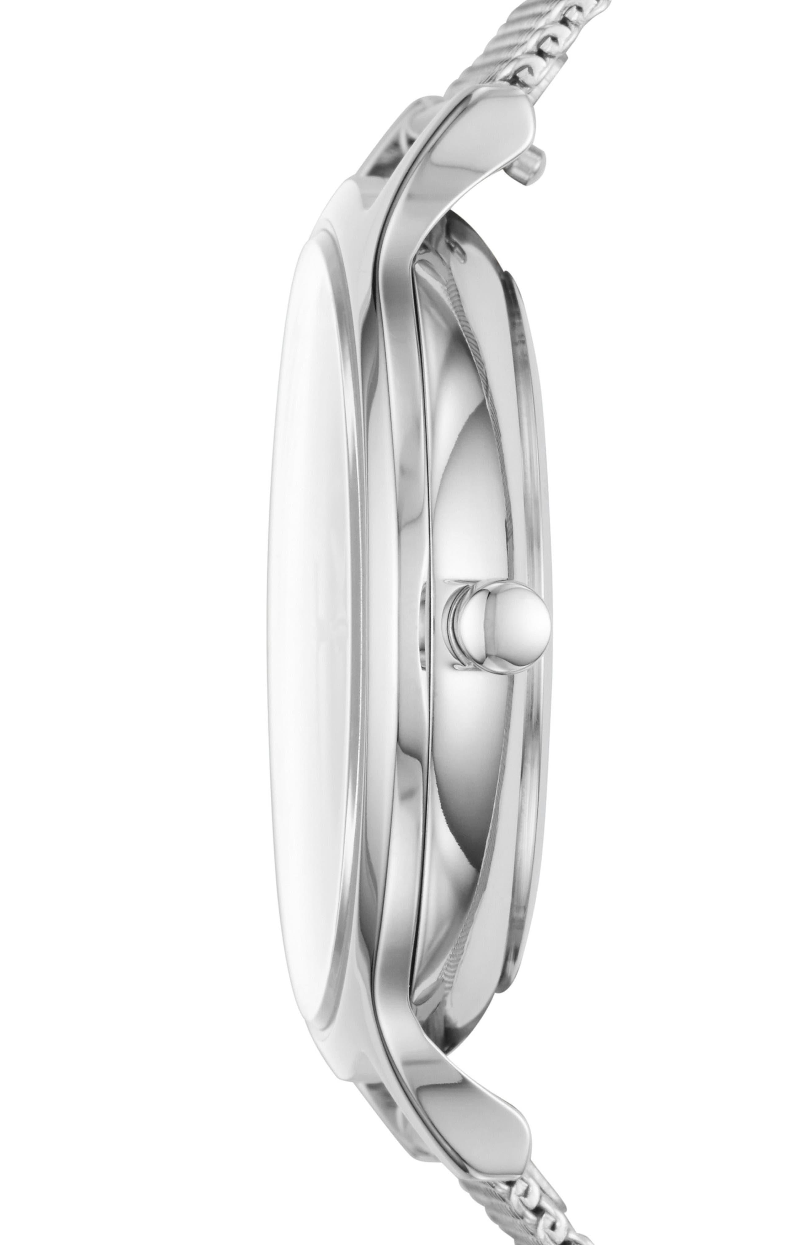 Anita Marble Dial Mesh Strap Watch, 34mm,                             Alternate thumbnail 2, color,                             040