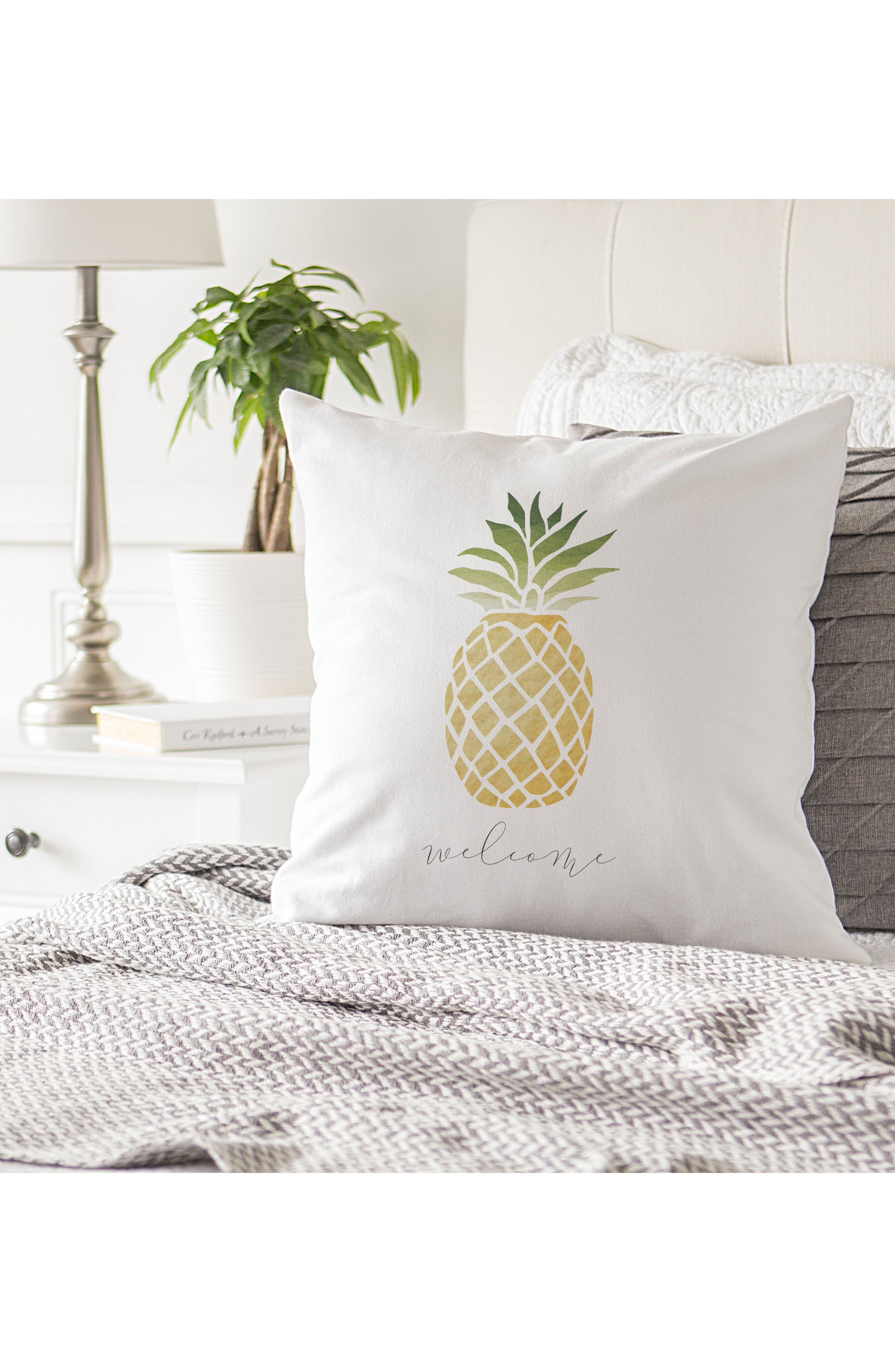 Pineapple Accent Pillow,                             Alternate thumbnail 3, color,                             100