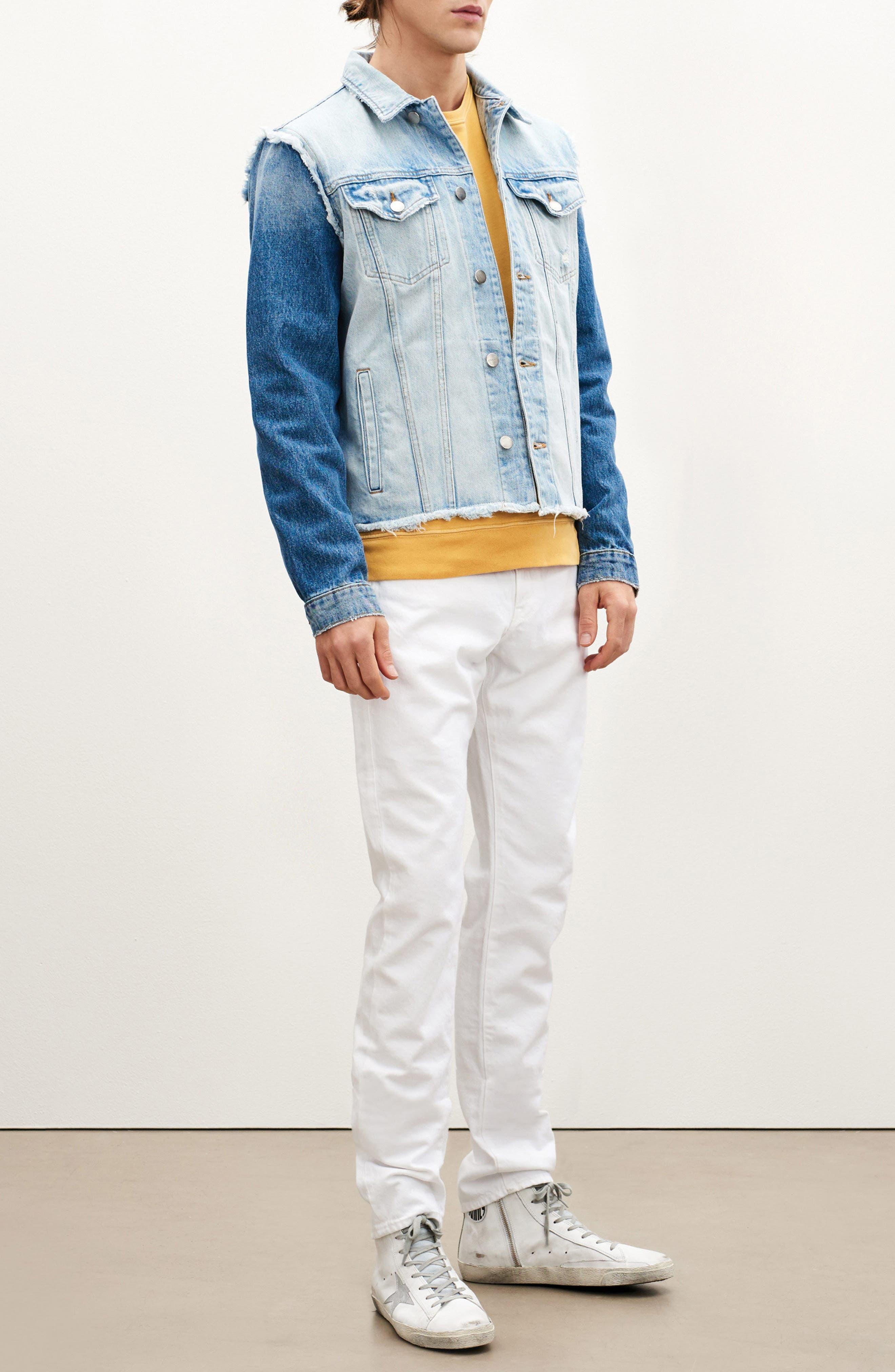 L'Homme Slim Fit Jeans,                             Alternate thumbnail 7, color,                             BLANC
