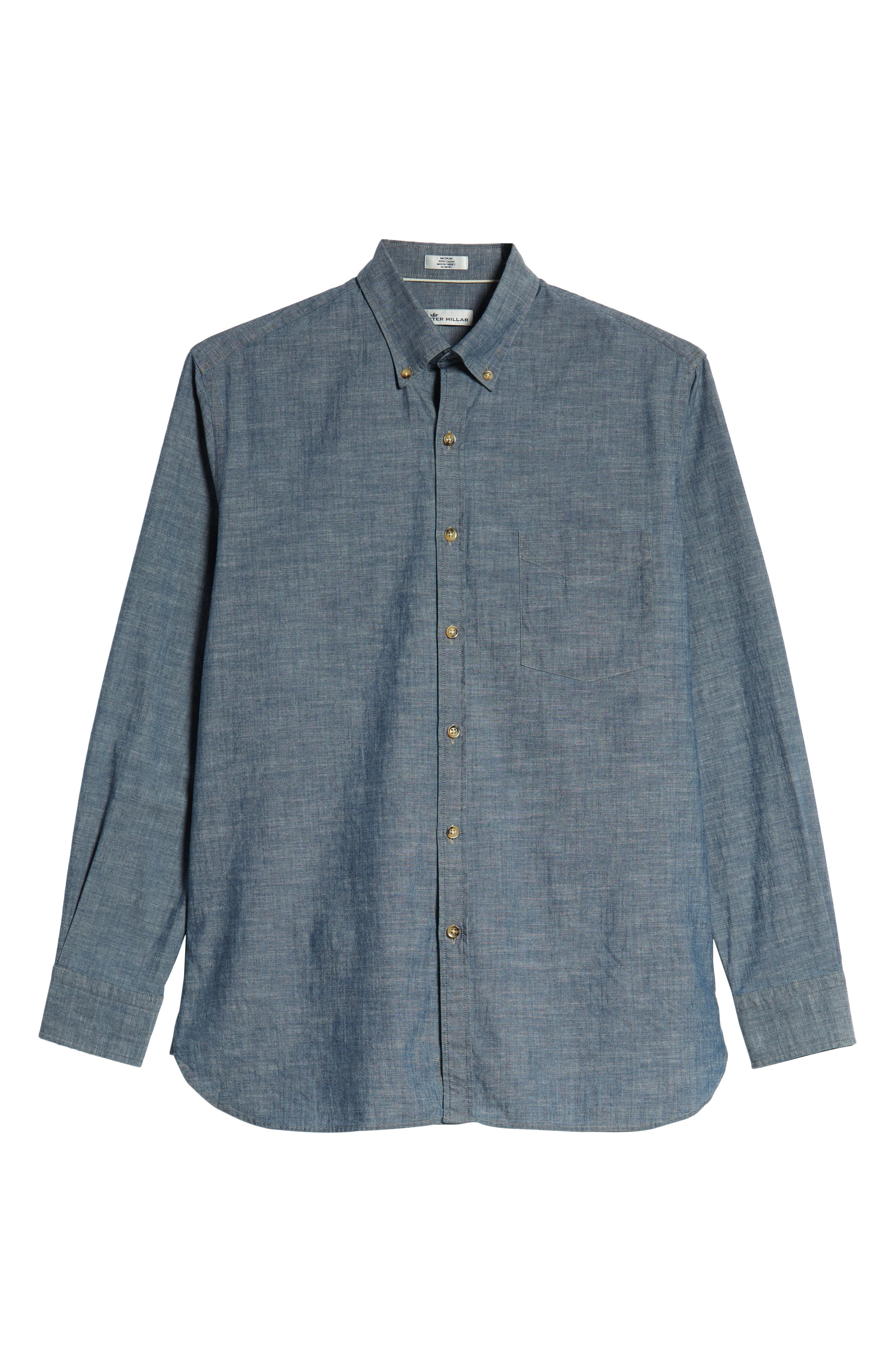 Blue Ridge Regular Fit Indigo Sport Shirt,                             Alternate thumbnail 5, color,                             INDIGO