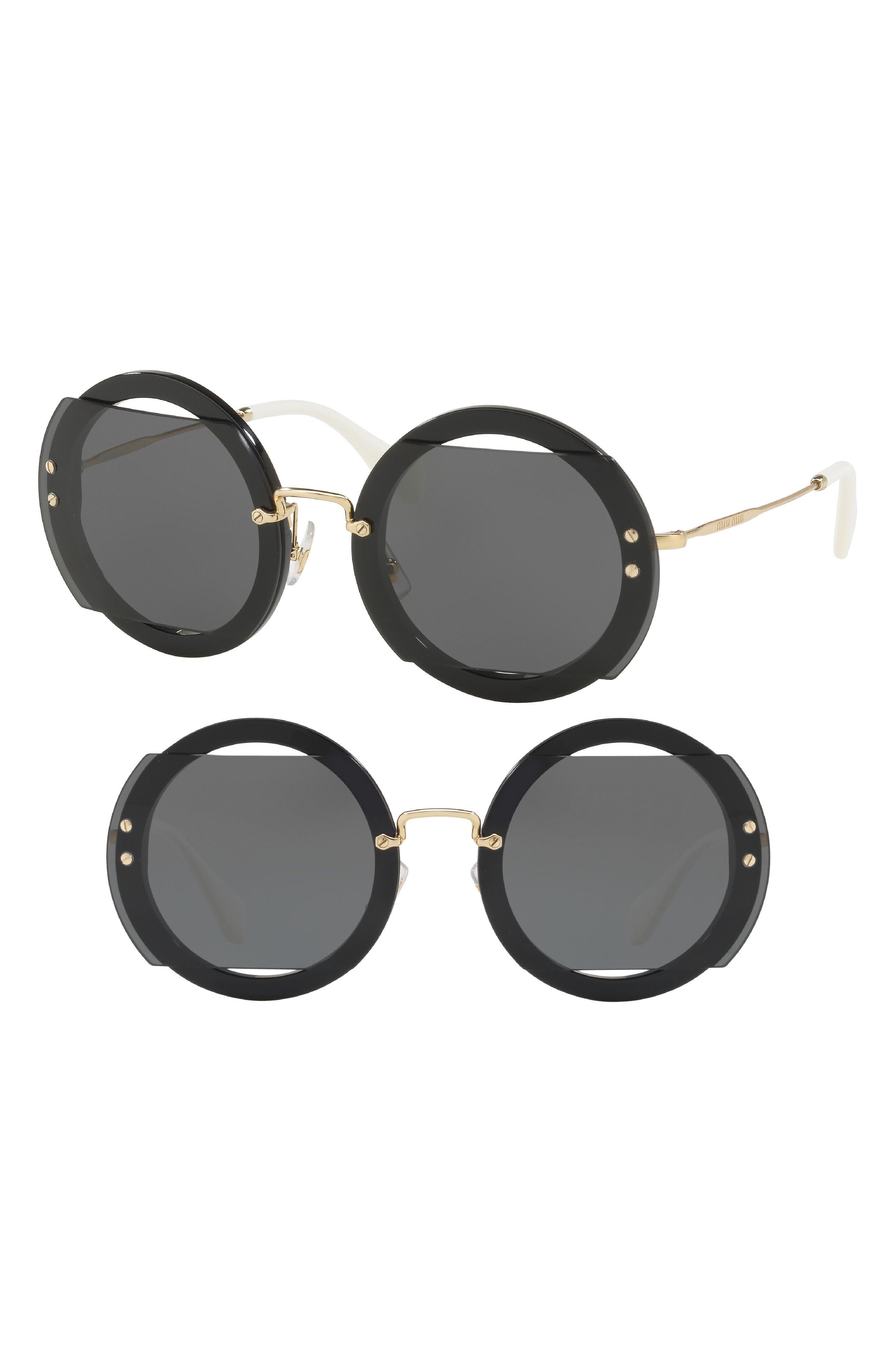 63mm Round Sunglasses,                             Main thumbnail 1, color,                             017