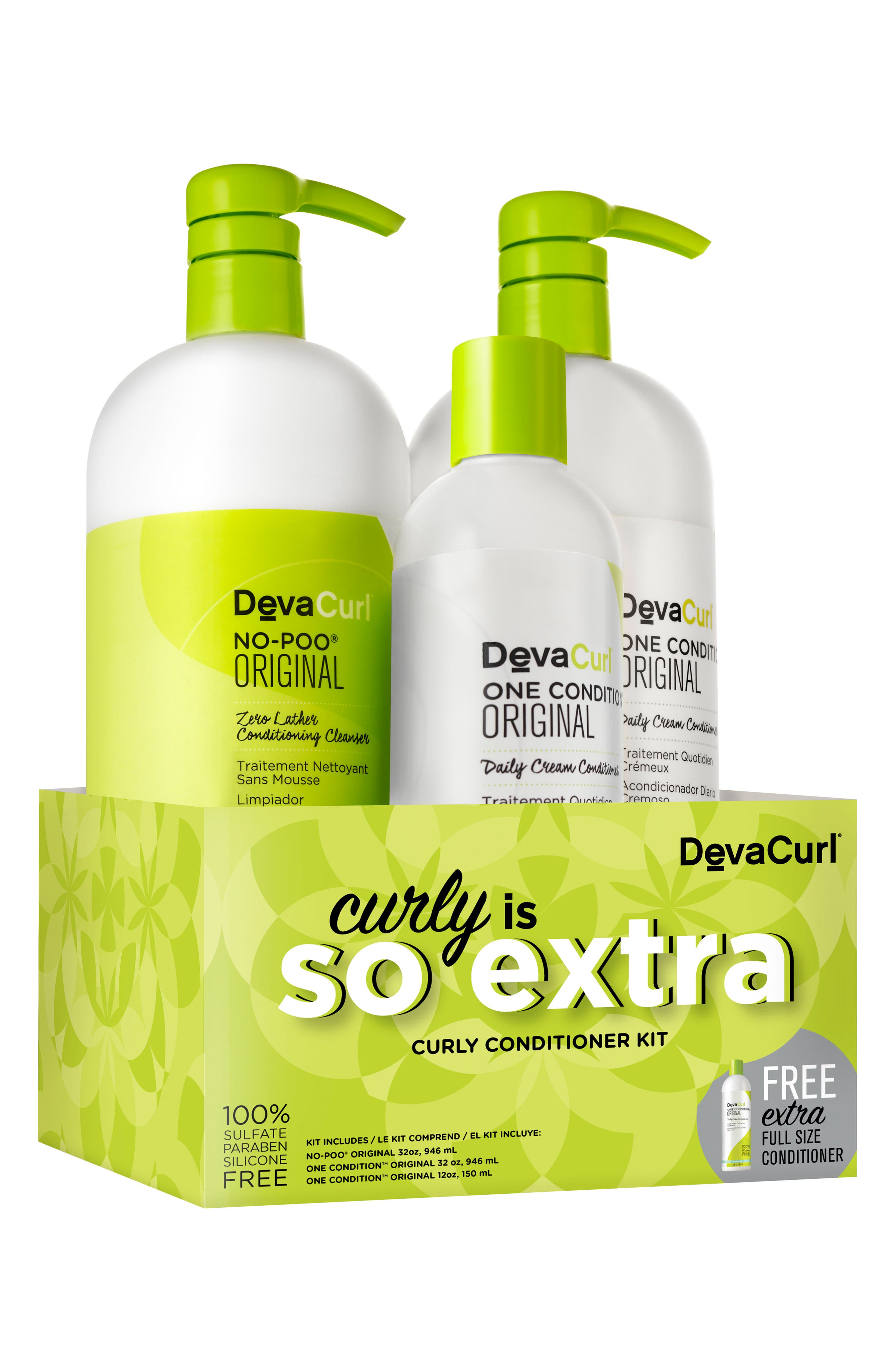 So Extra Curly Conditioner Kit,                             Alternate thumbnail 2, color,                             000
