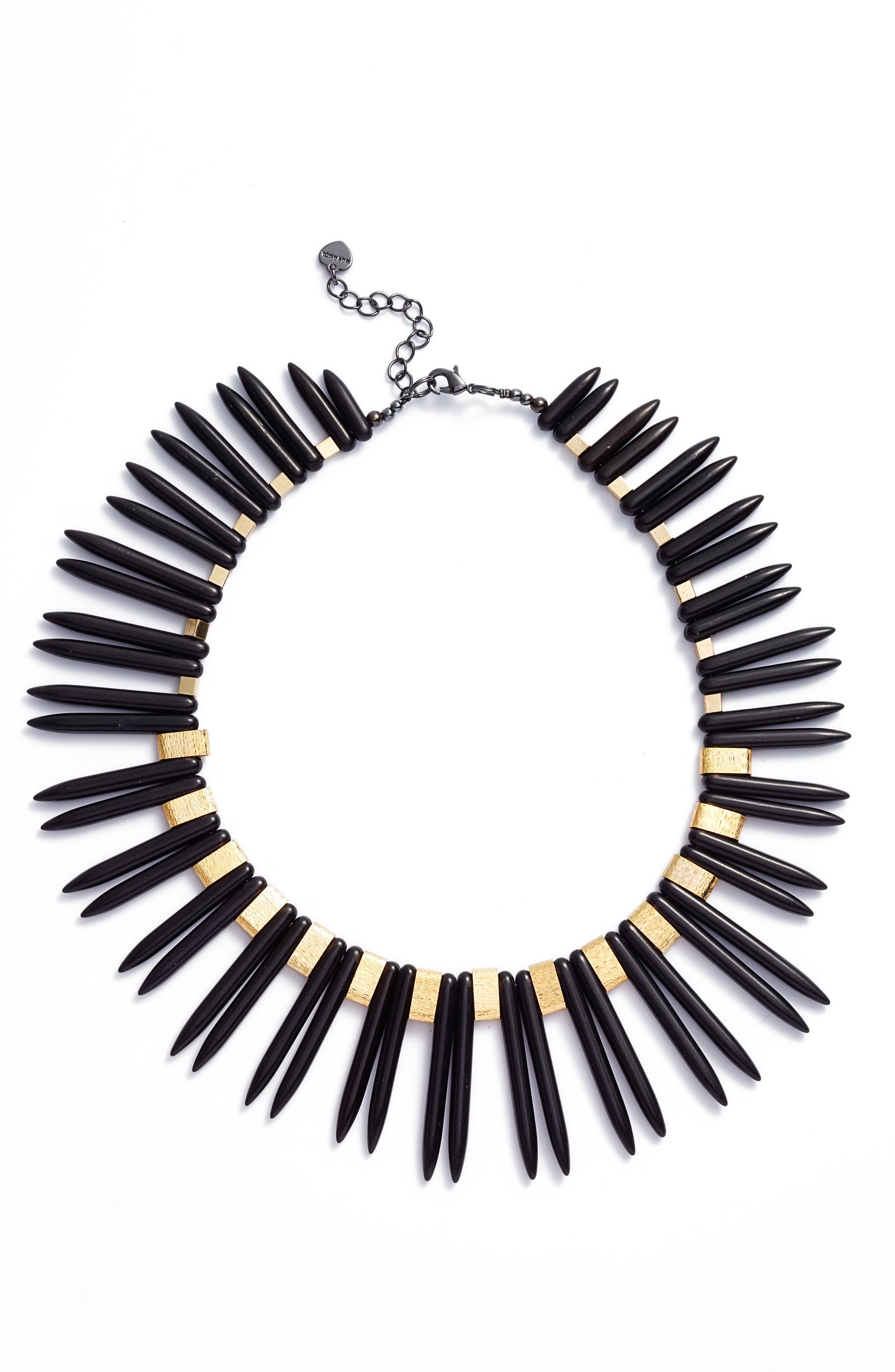 Double Spike Statement Necklace,                             Main thumbnail 1, color,                             001