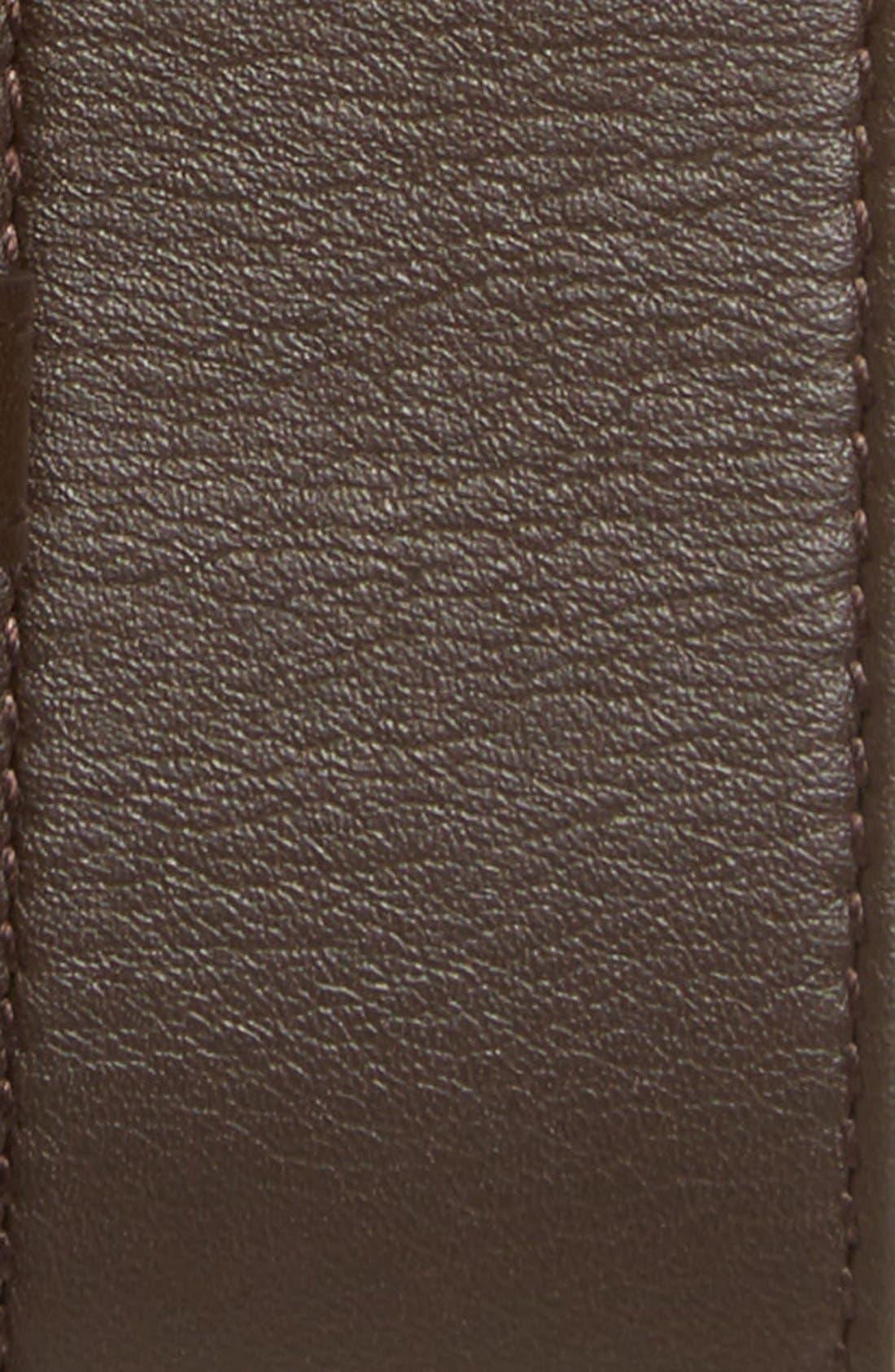 Logo Leather Belt,                             Alternate thumbnail 4, color,