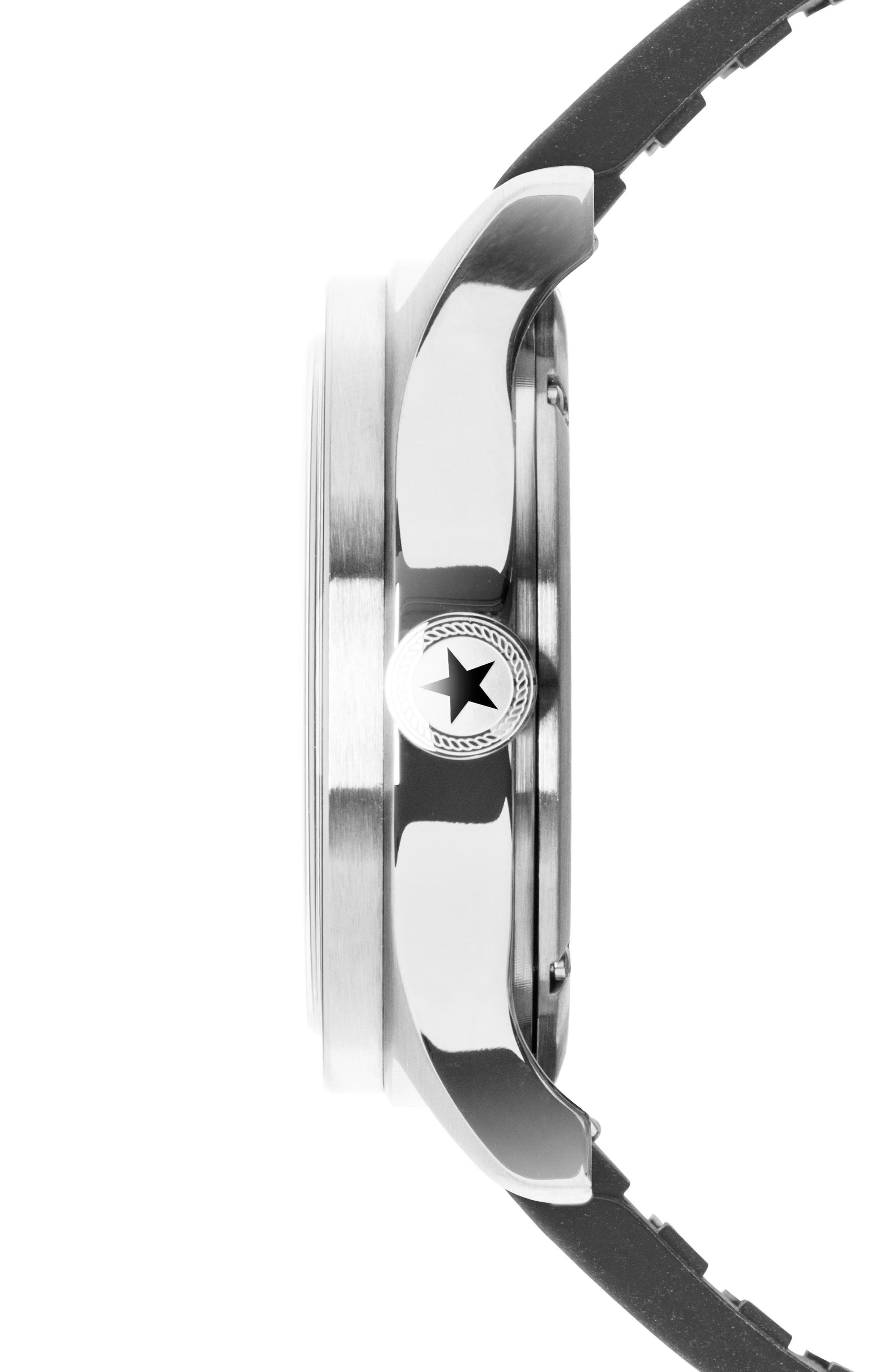 Racing Rubber Strap Watch, 46mm,                             Alternate thumbnail 3, color,                             100