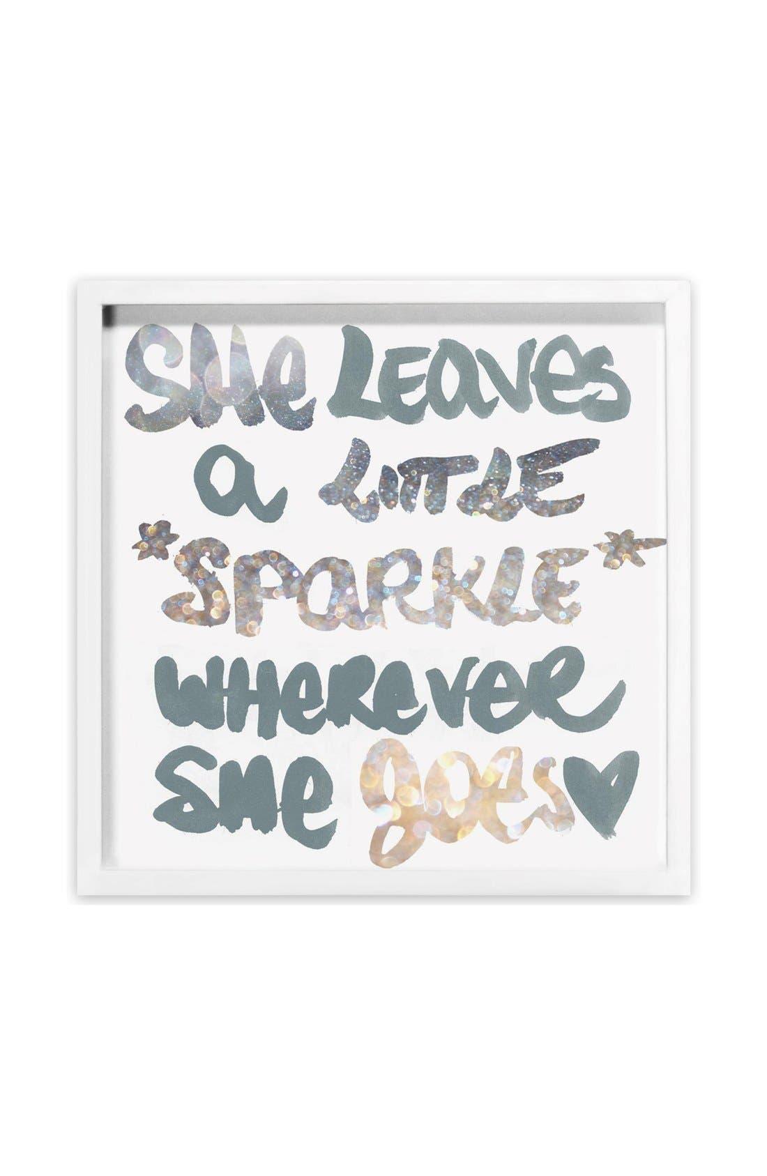 'Silver Sparkle' Framed Art Print,                             Main thumbnail 1, color,