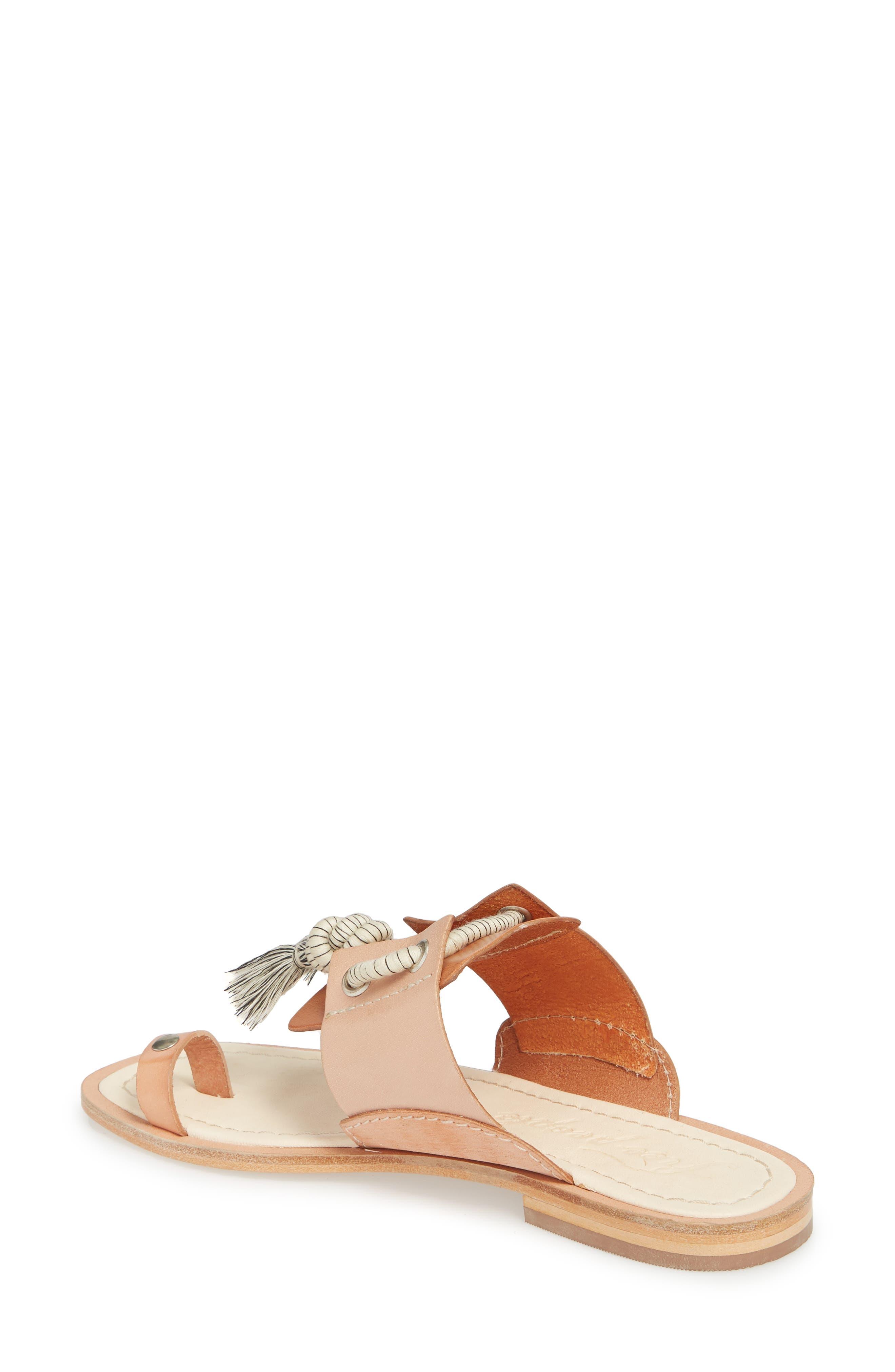 Maui Tasseled Slide Sandal,                             Alternate thumbnail 4, color,