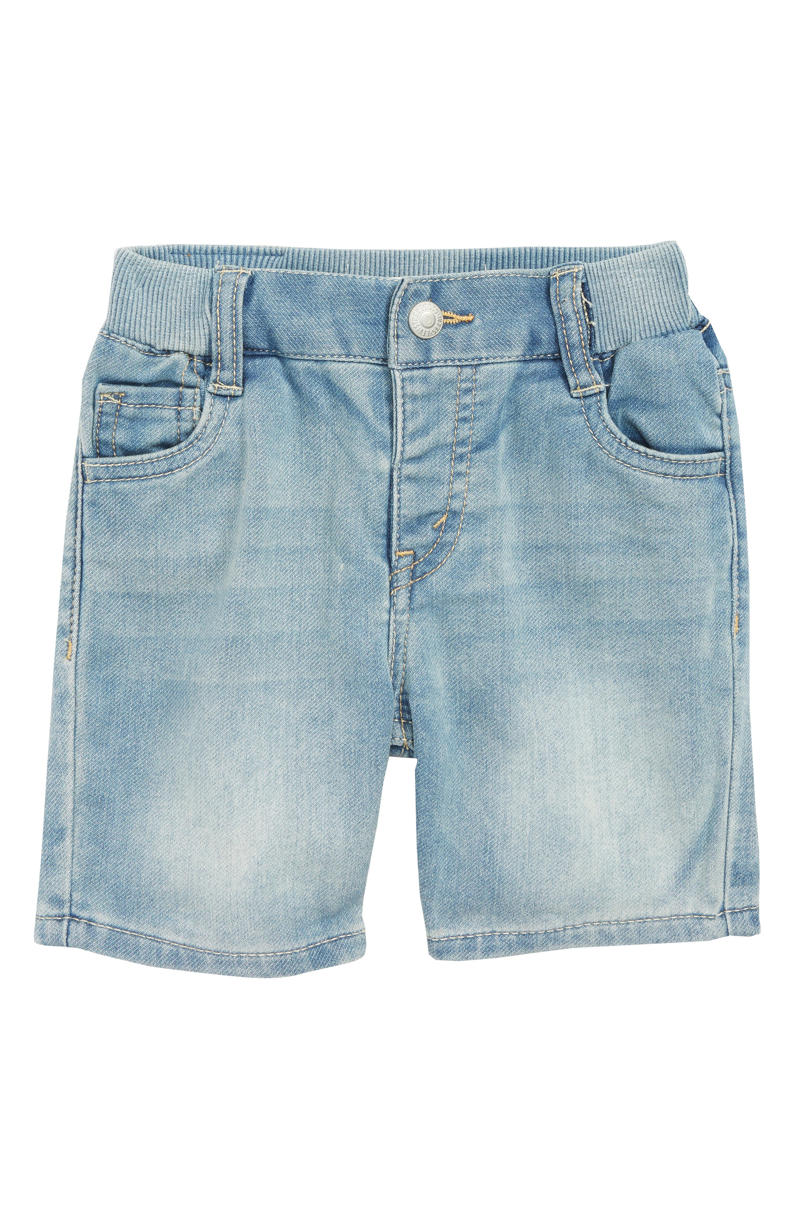 Knit Denim Shorts,                         Main,                         color, 424