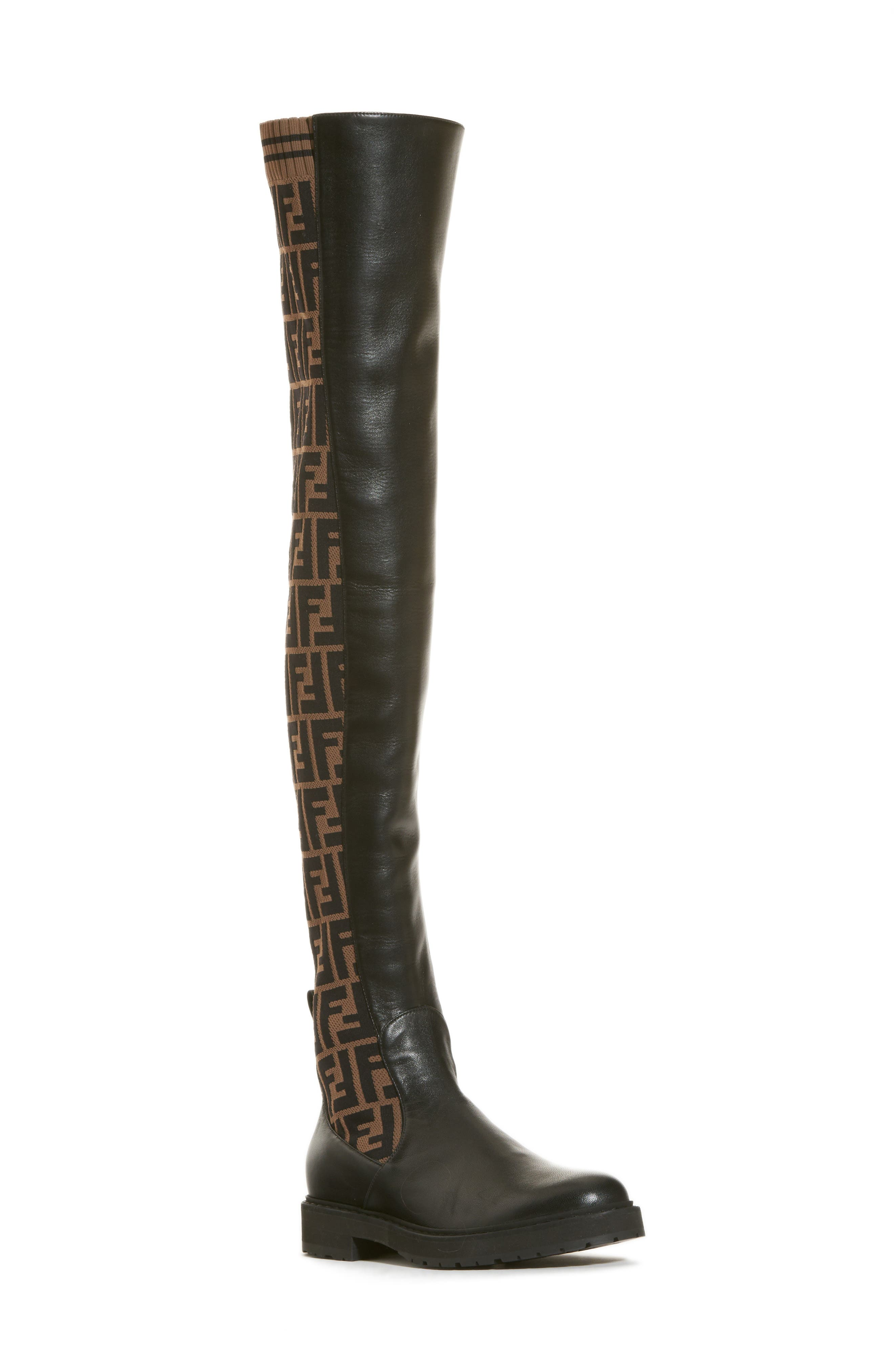 Rockoko Over the Knee Boot,                             Main thumbnail 1, color,