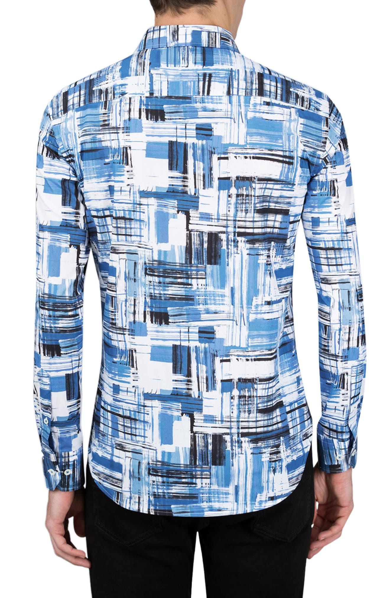 Shaped Fit Print Sport Shirt,                             Alternate thumbnail 2, color,                             420