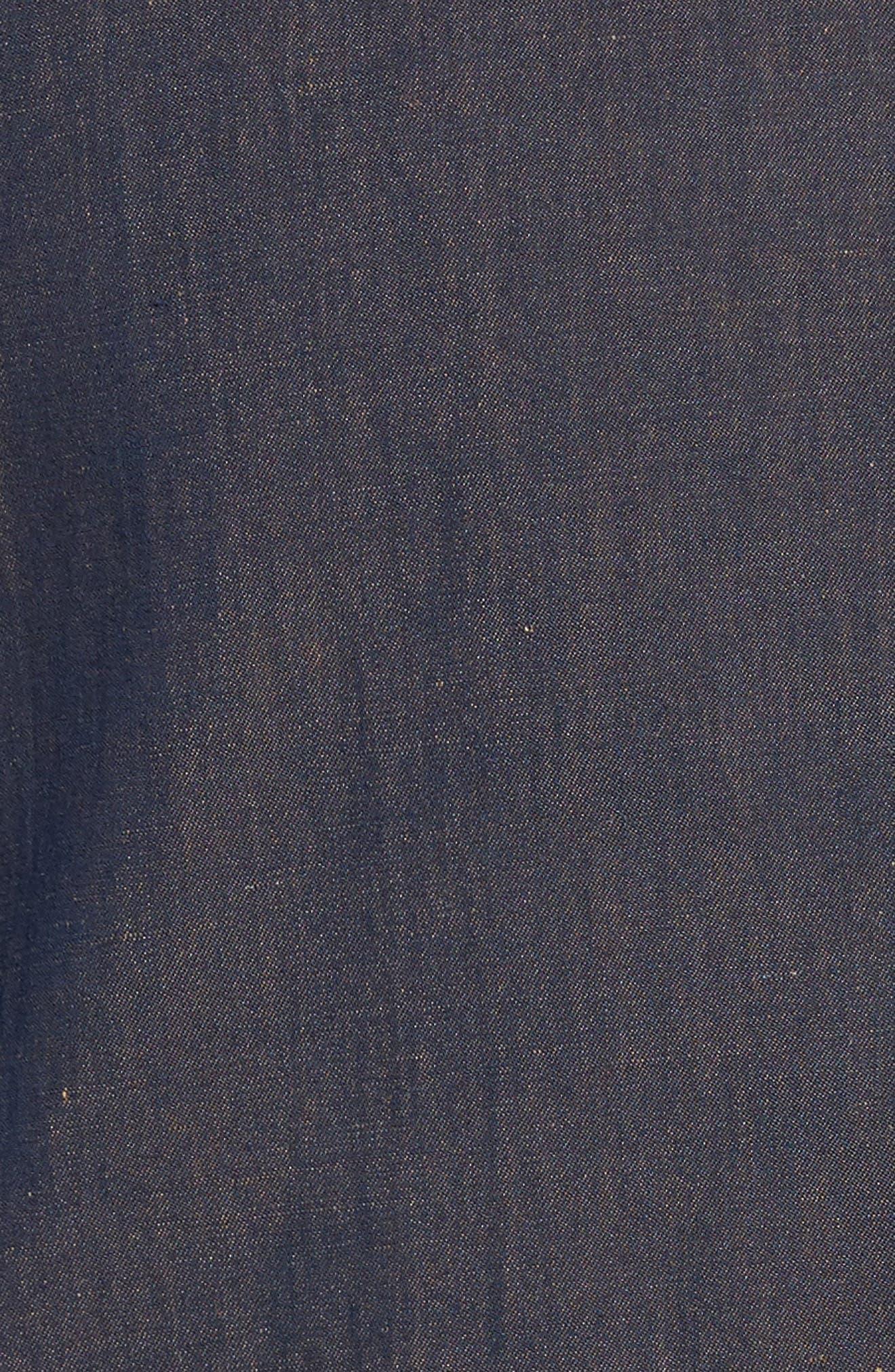 Hootie Classic Fit Linen & Cotton Vest,                             Alternate thumbnail 5, color,