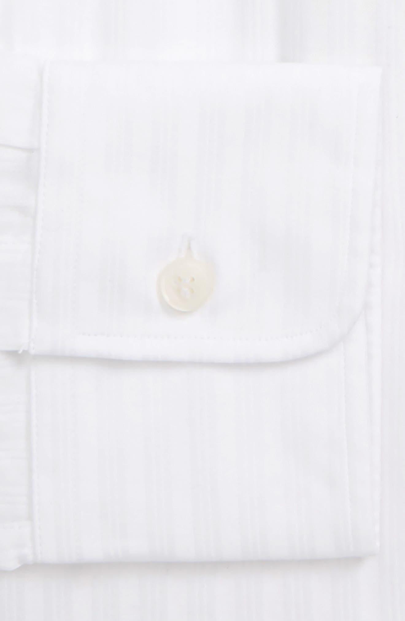 Fridolf Extra Slim Fit Tonal Stripe Dress Shirt,                             Alternate thumbnail 2, color,                             WHITE